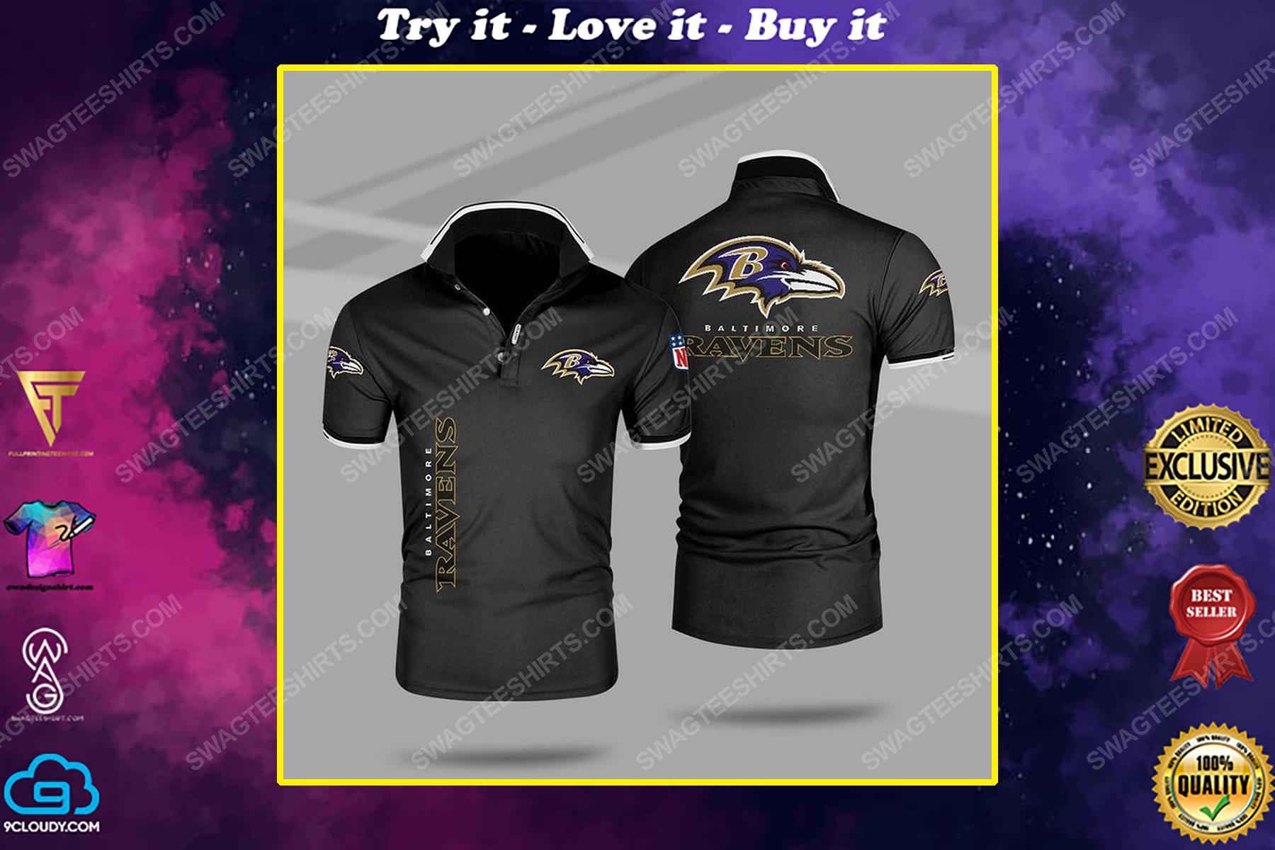 The baltimore ravens nfl all over print polo shirt