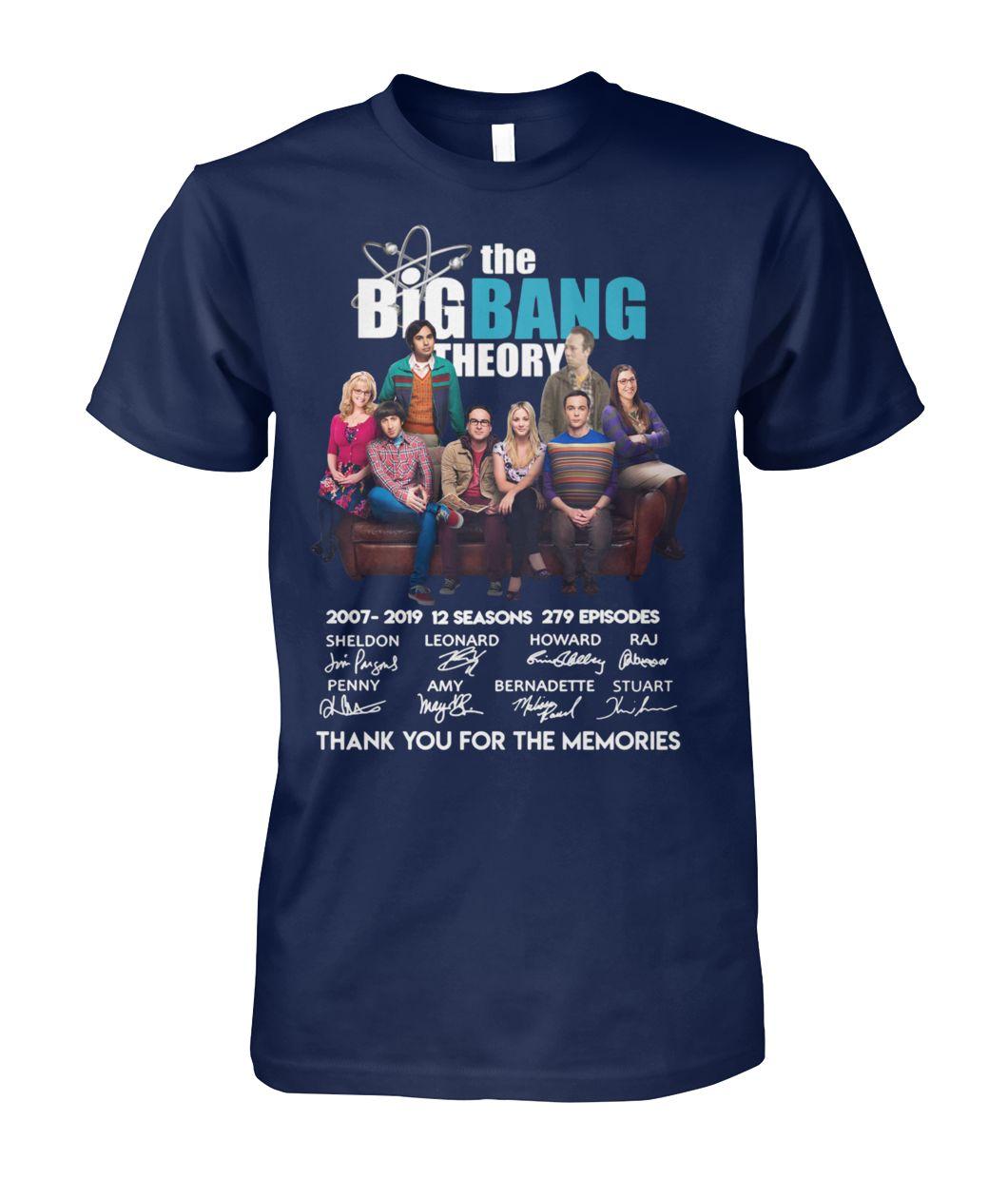 The big bang theory characters signature shirt