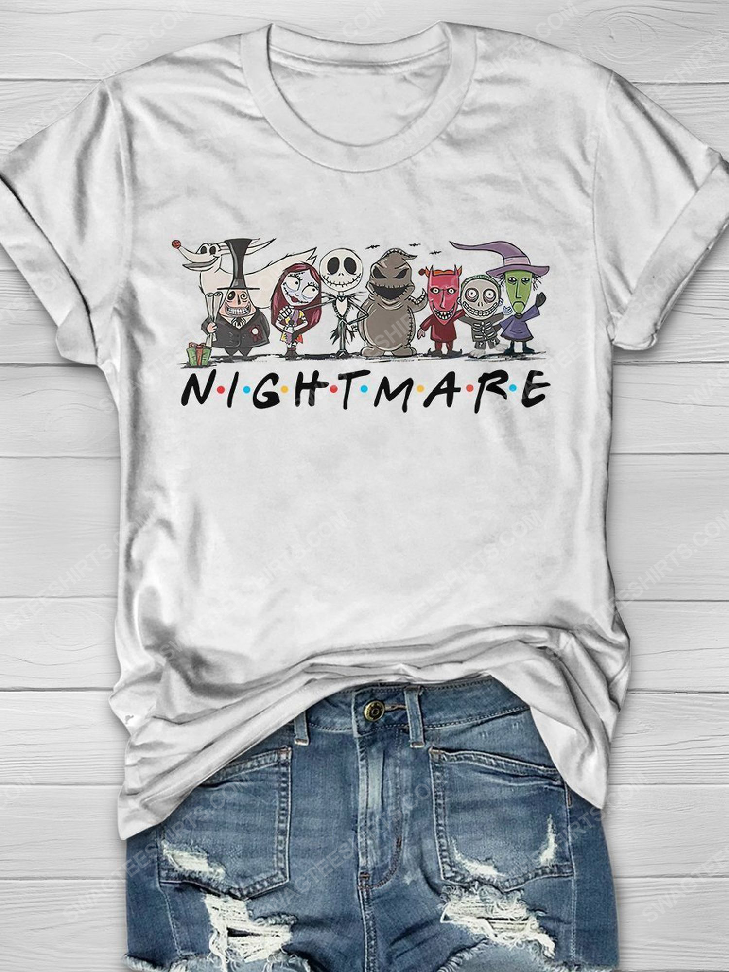 The nightmare before christmas friends tv show shirt 1