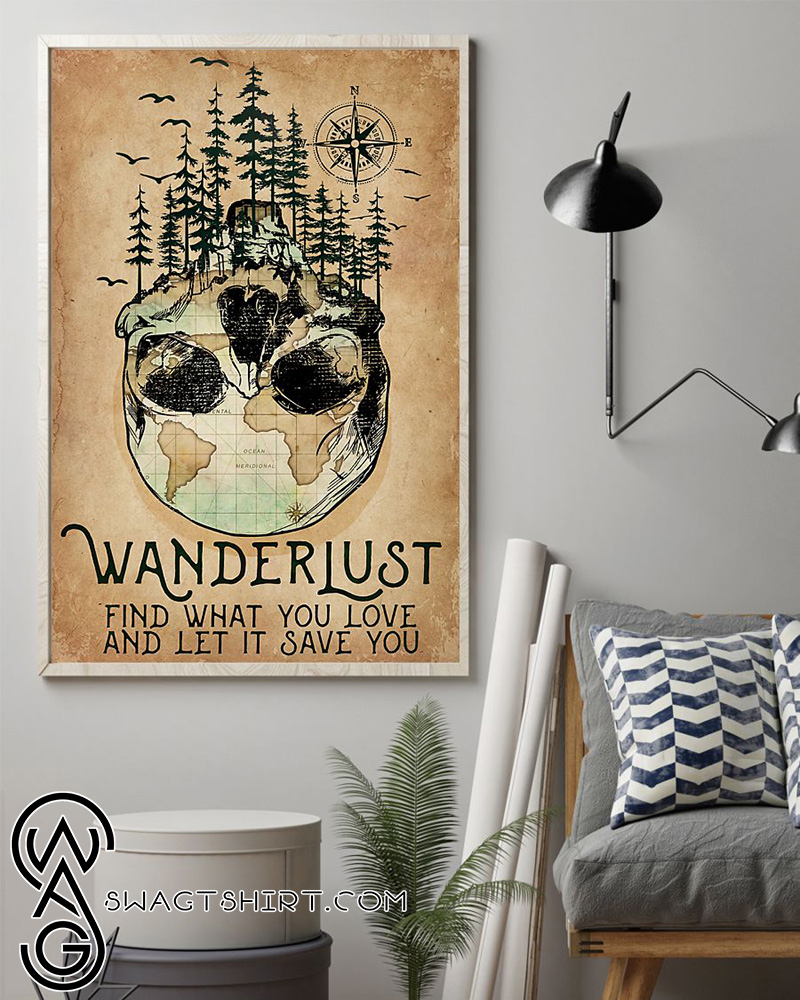 Wanderlust find what you love and let it save you poster