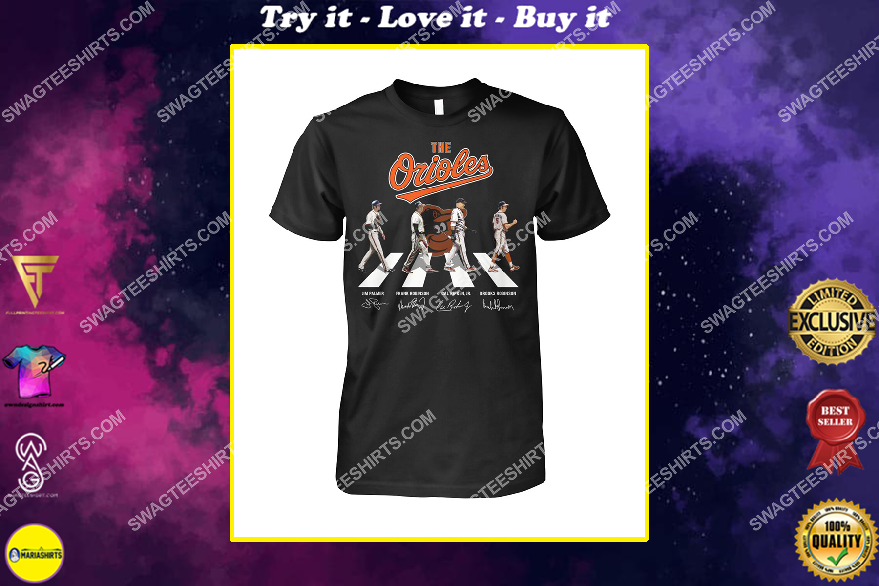 abbey road the baltimore orioles signatures shirt