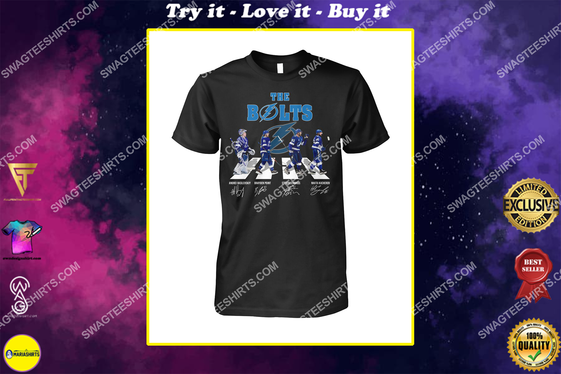 abbey road the bolts tampa bay lightning signatures shirt
