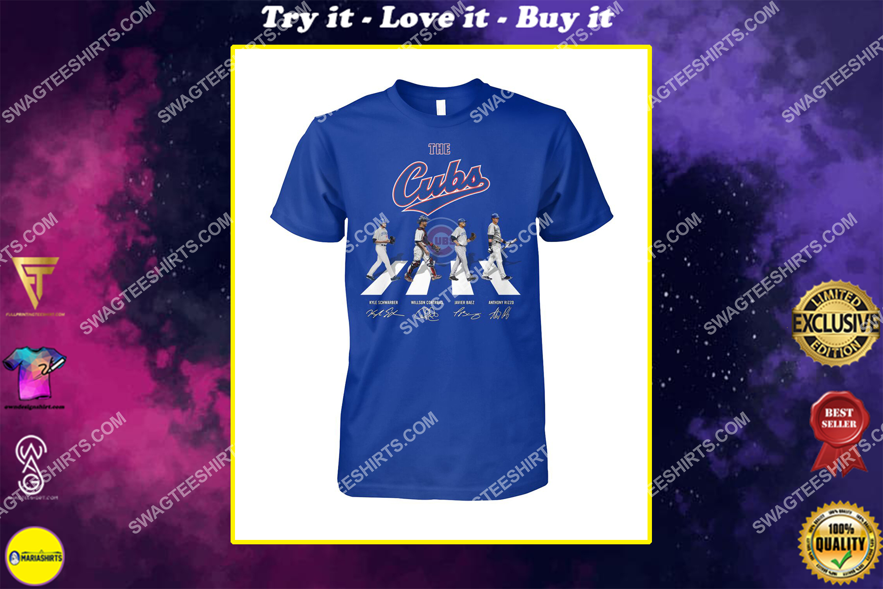 abbey road the chicago cubs signatures shirt