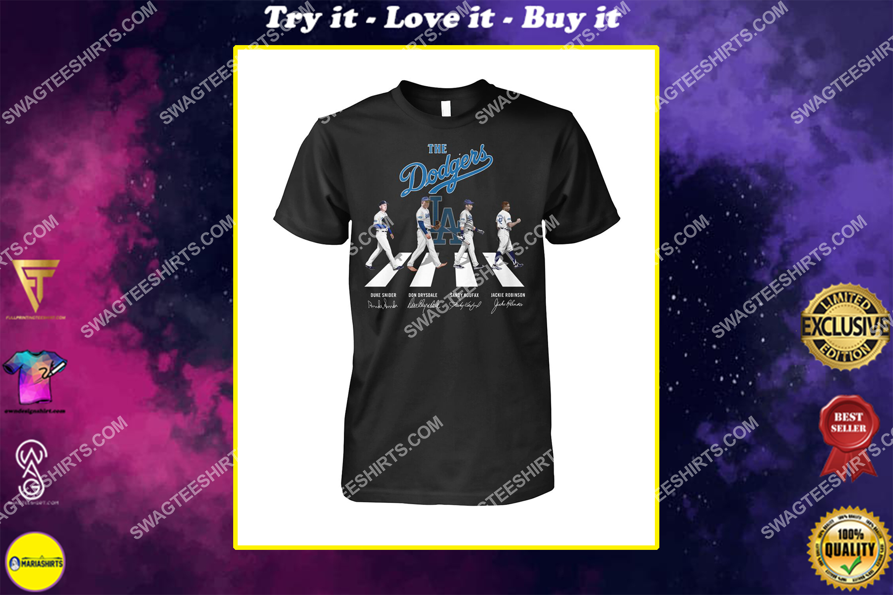 abbey road the los angeles dodgers signatures shirt