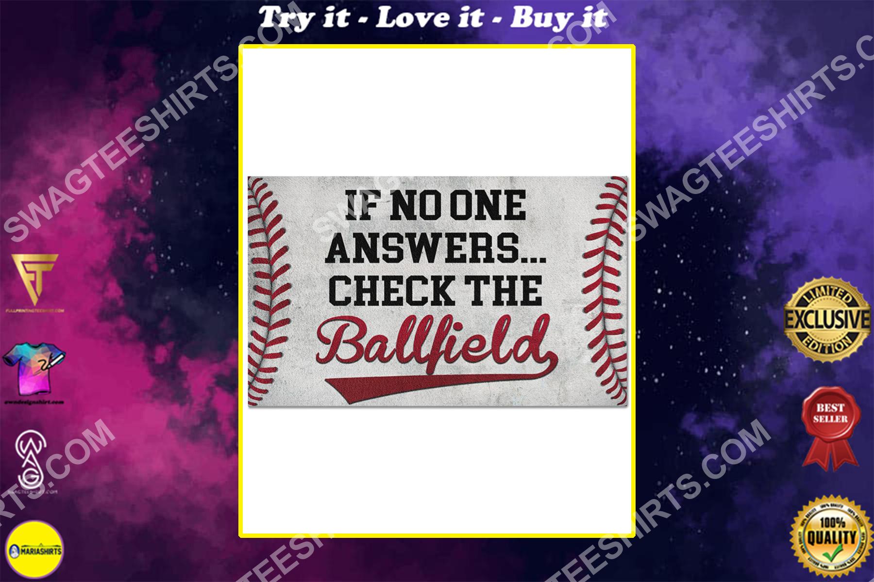 baseball if no one answer check the ballfield doormat