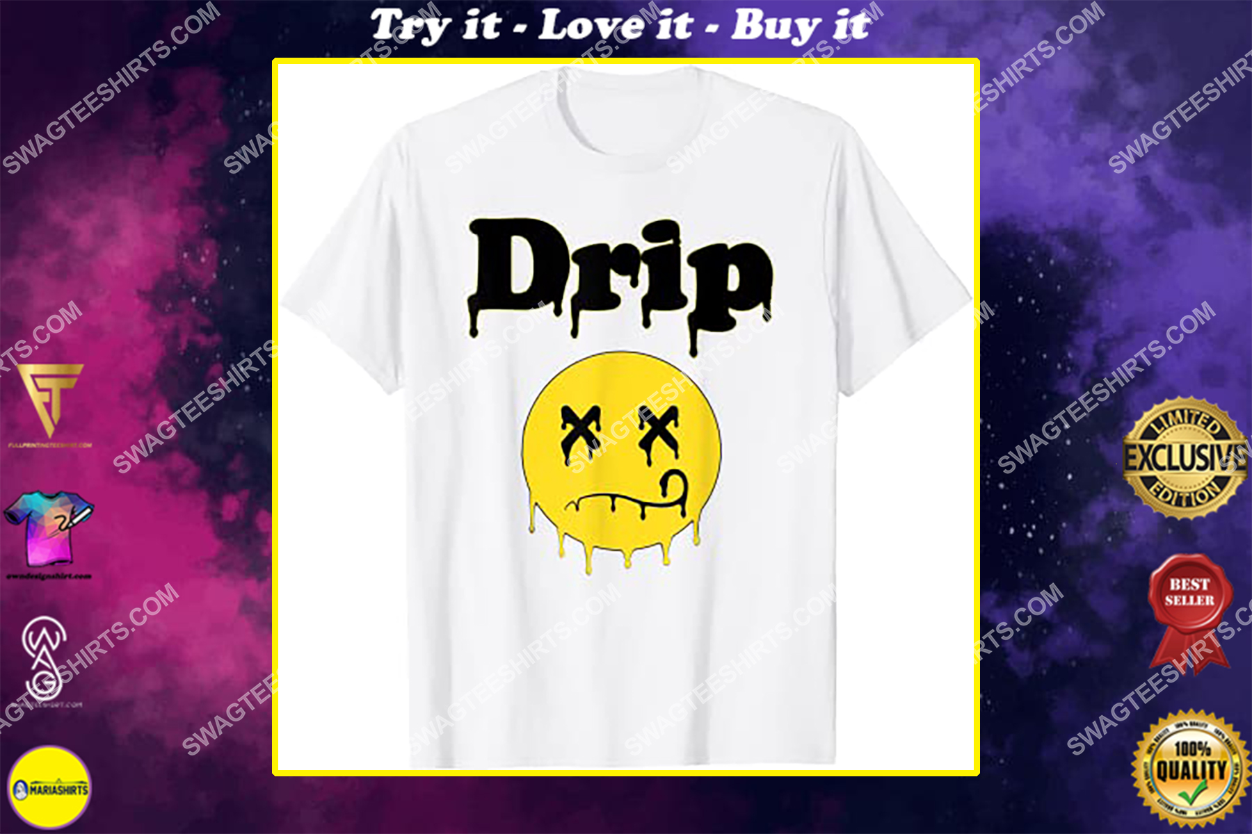 dripping smiley face melted smiley emoji shirt