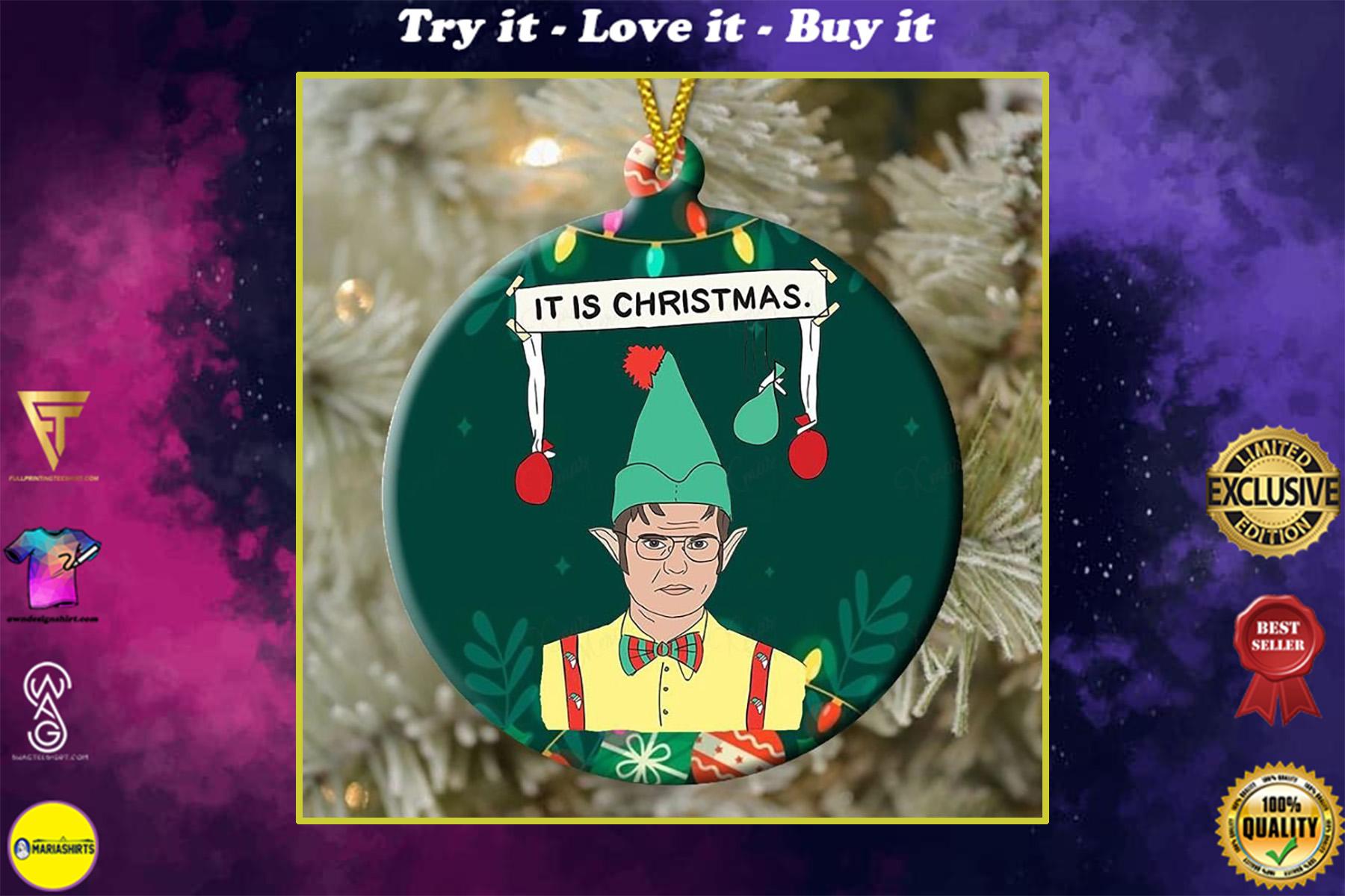 elf christmas movie it is christmas ornament