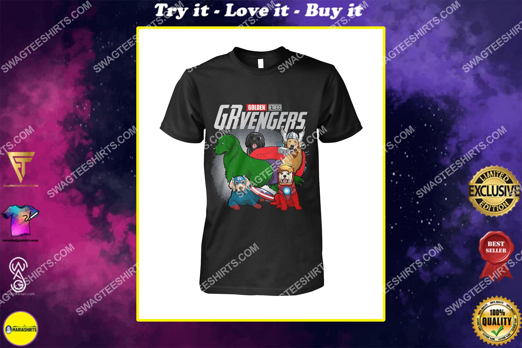 golden retriever grvengers marvel avengers dogs lover shirt