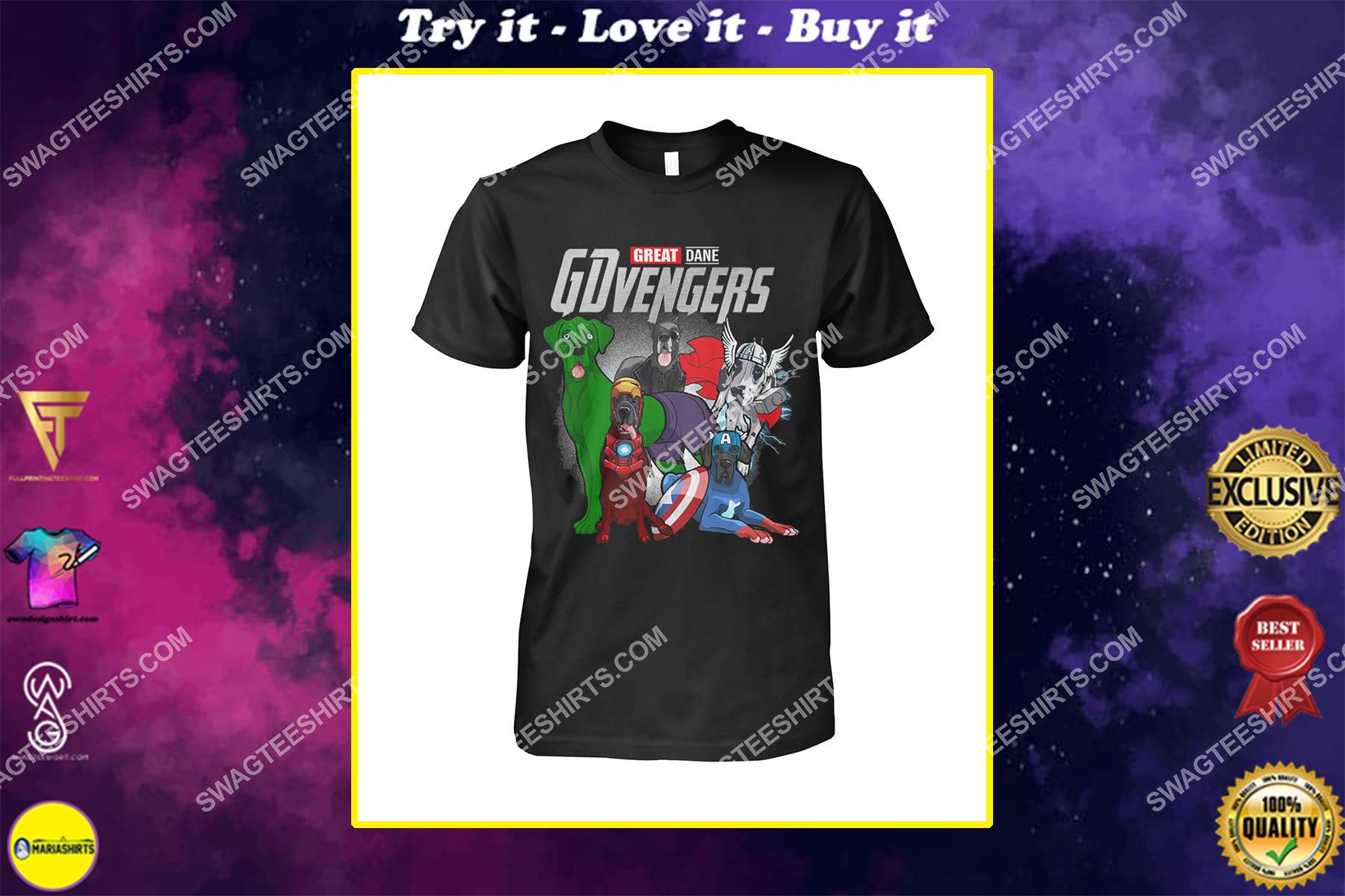 great dane gdvengers marvel avengers dogs lover shirt