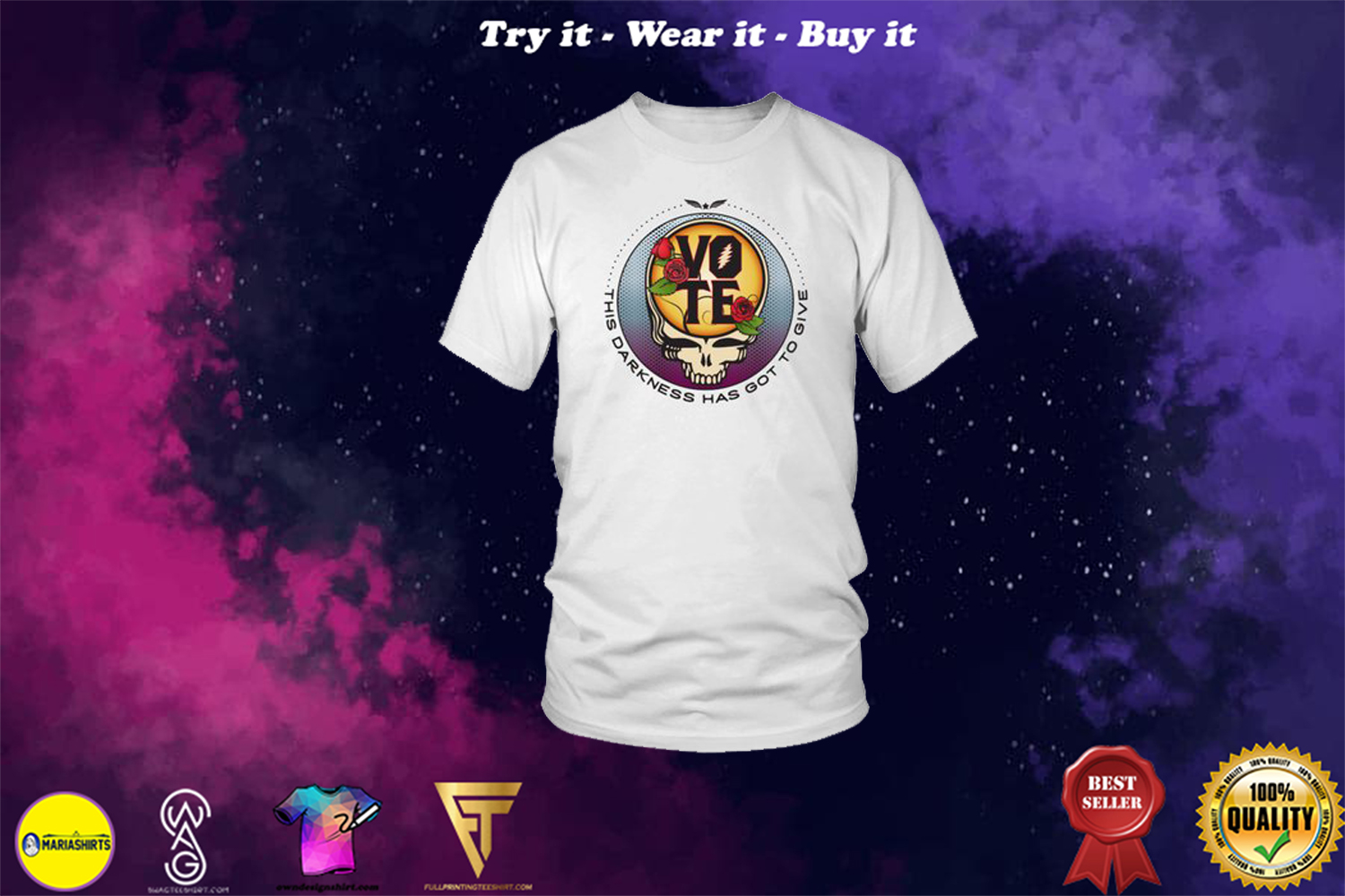 gun n rose skull vote this darkness has got to give shirt