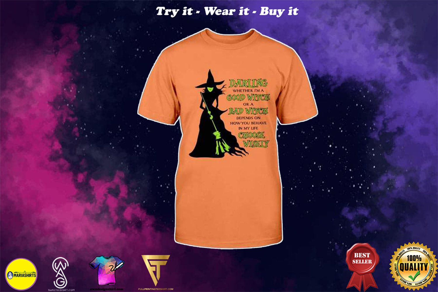 halloween darling whether im a good witch or a bad witch choose wisely witch shirt