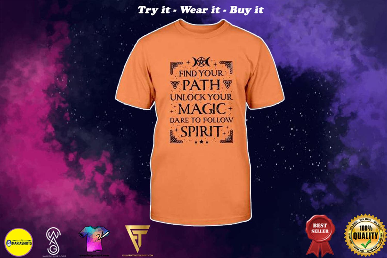 halloween find your path unlock your magic dare to follow spirit shirt