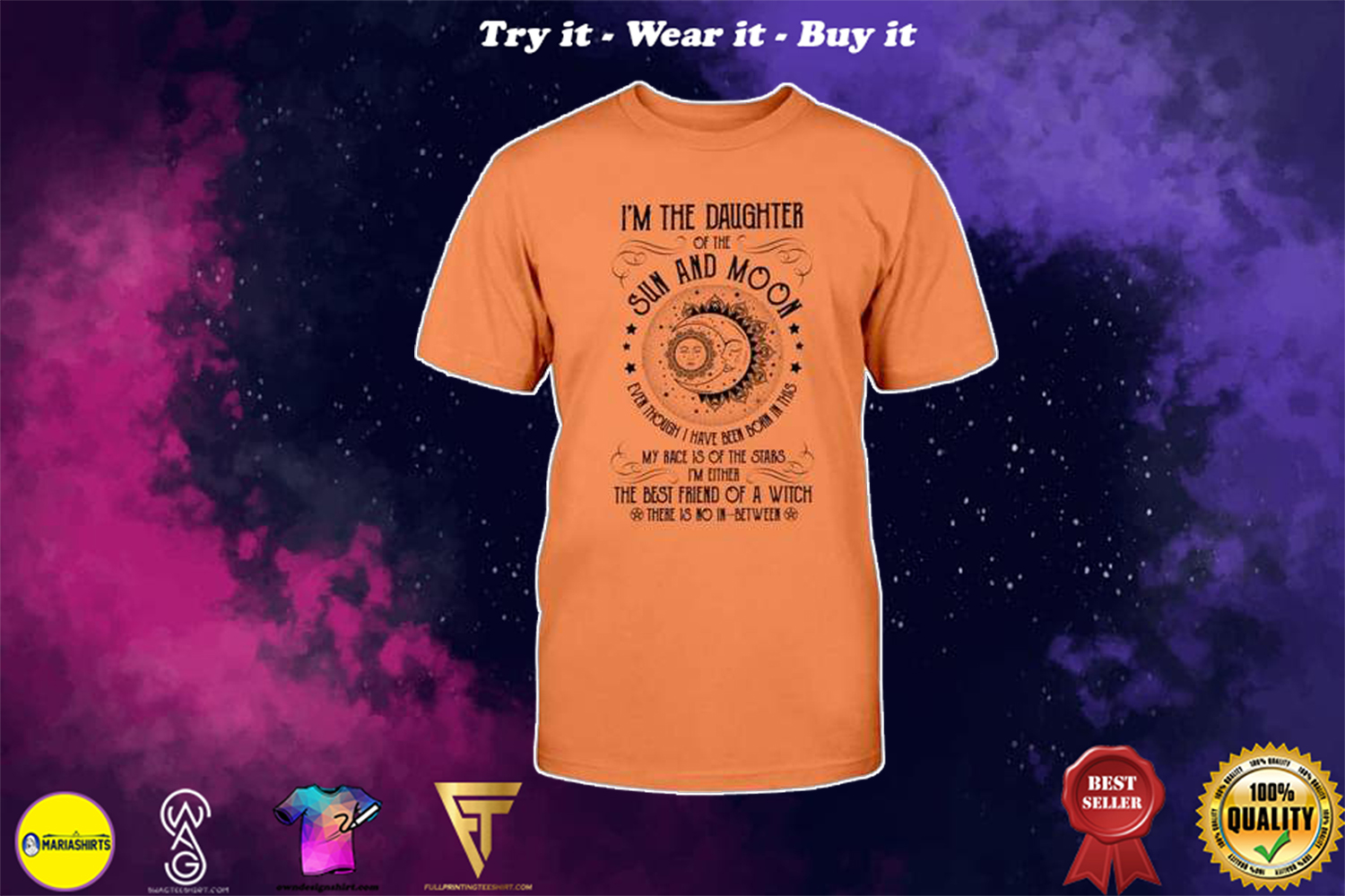 halloween im the daughter of the sun and moon the best friend of a witch shirt