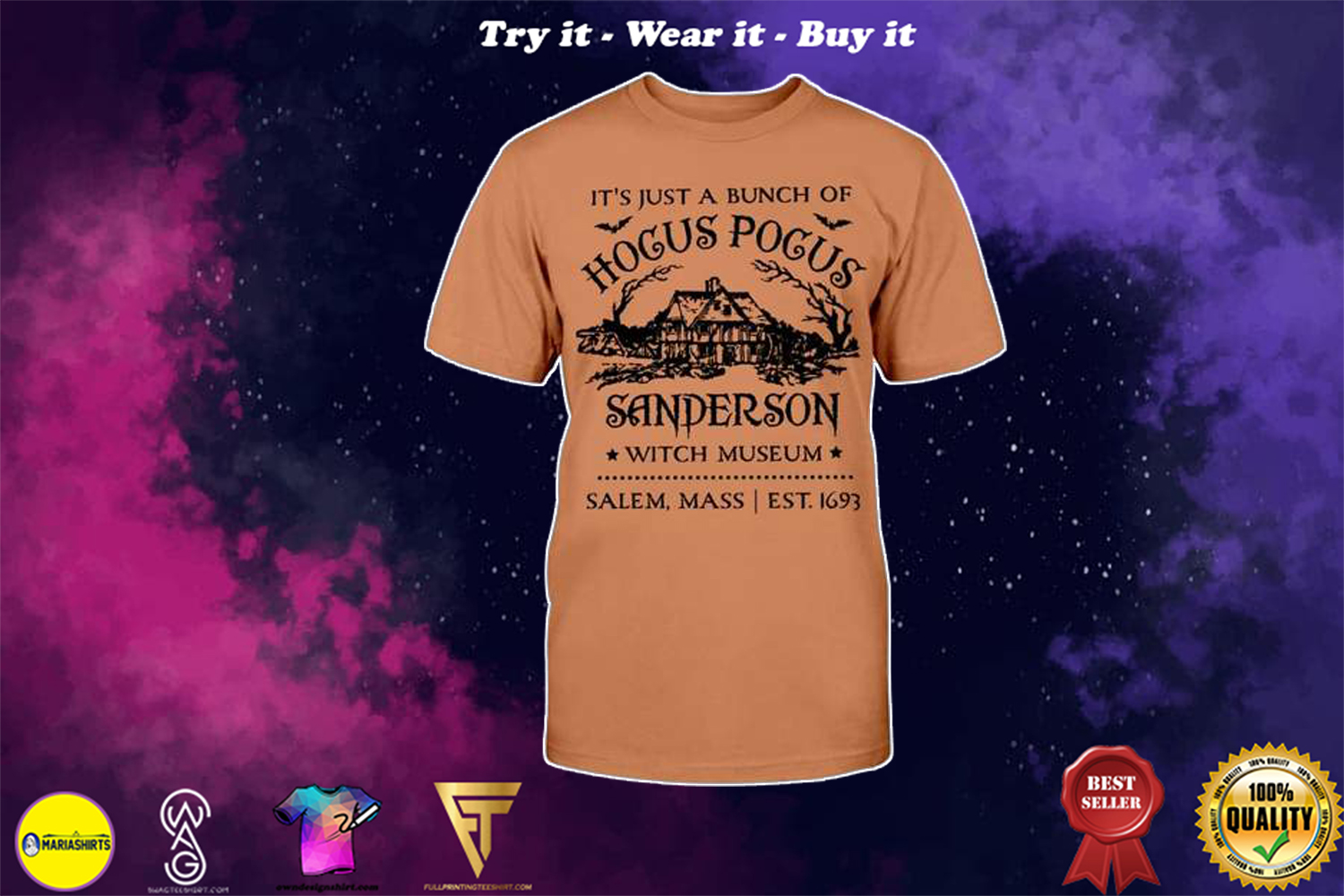 halloween its just a bunch of hocus pocus sanderson witch shirt