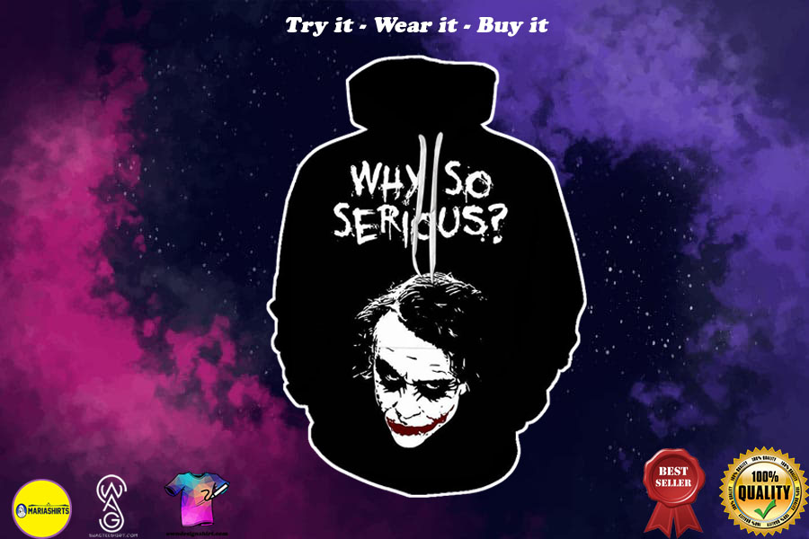 halloween joker why so serious all over printed shirt