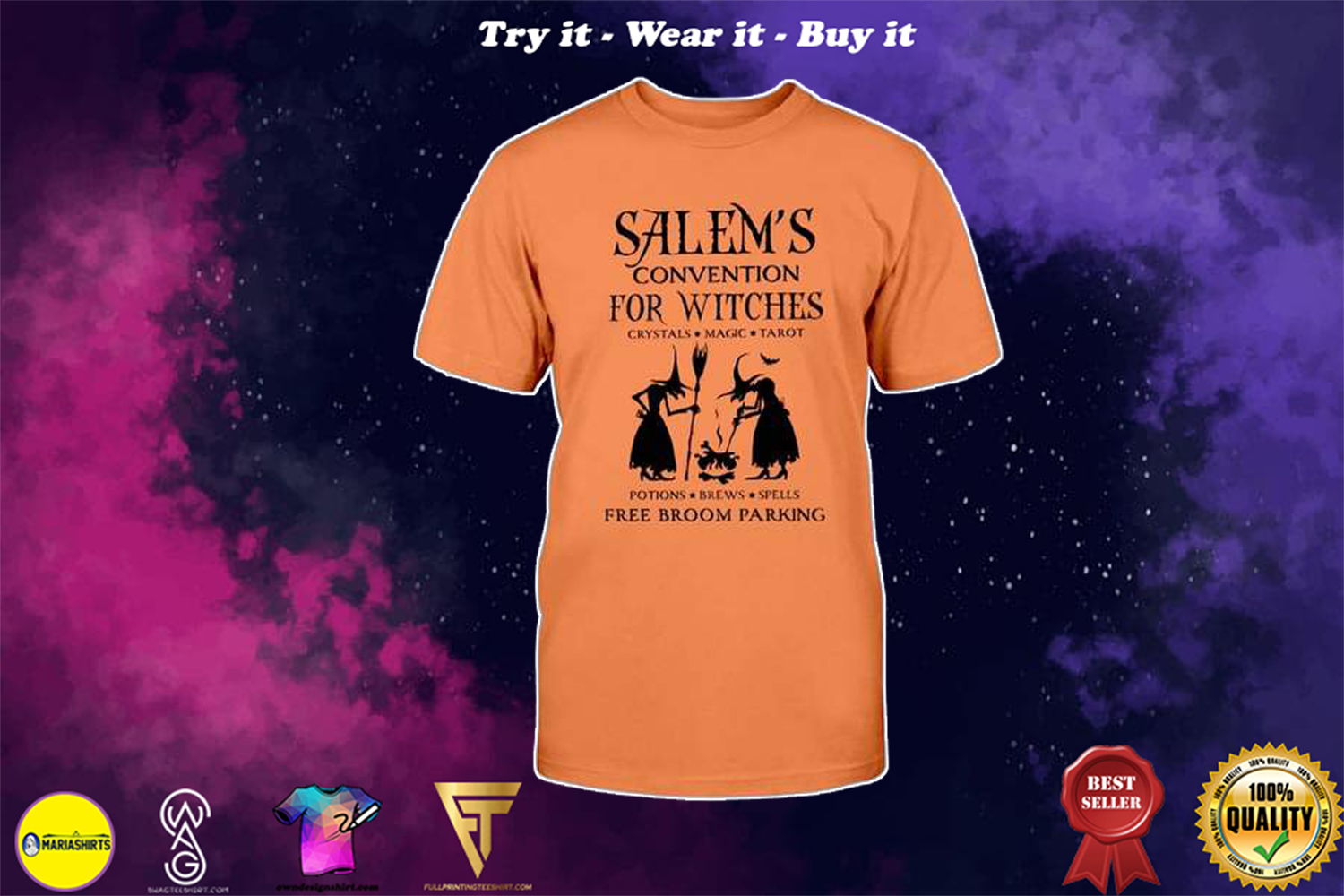 halloween salems convention for witches free broom parking shirt