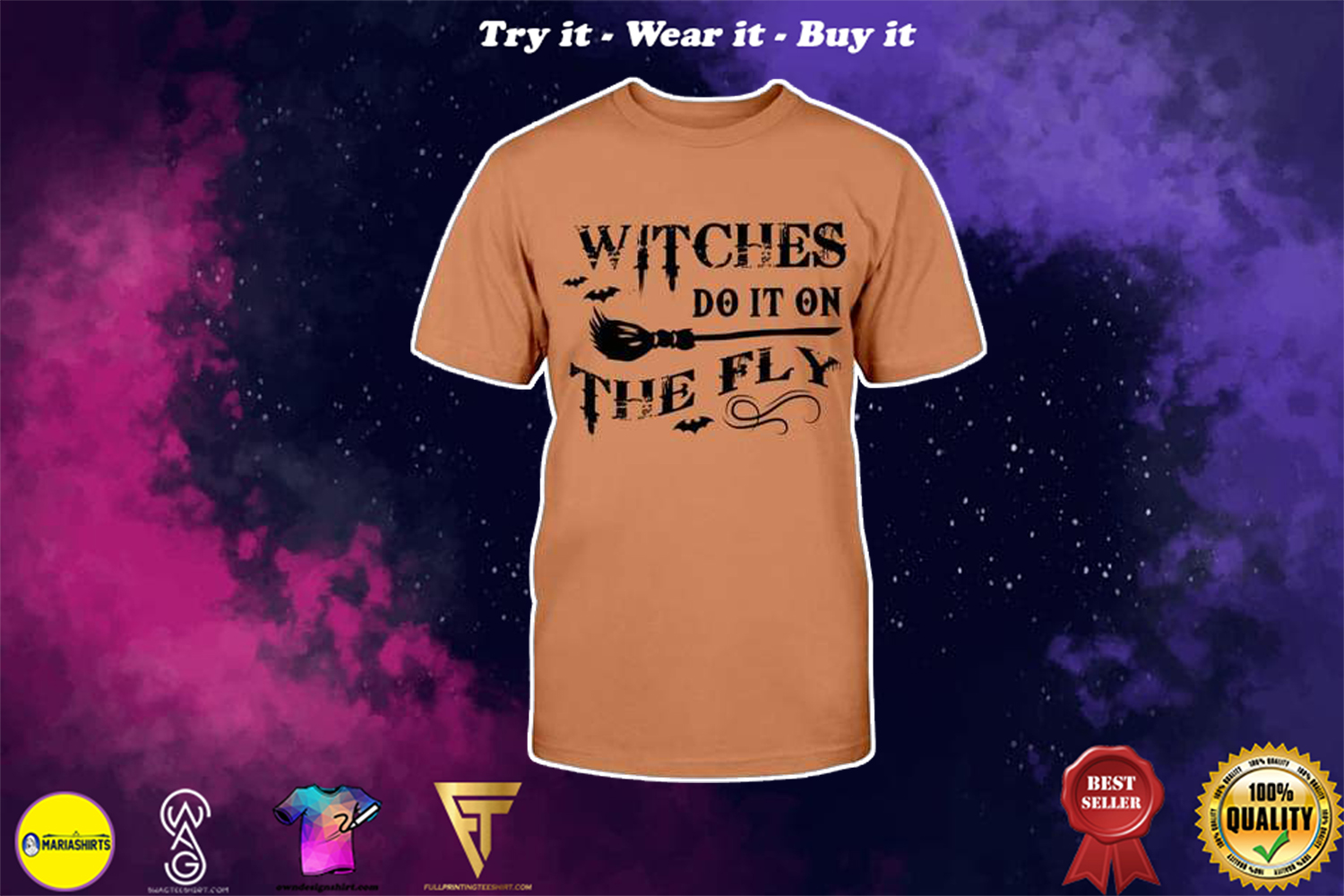 halloween witches do it on the fly shirt