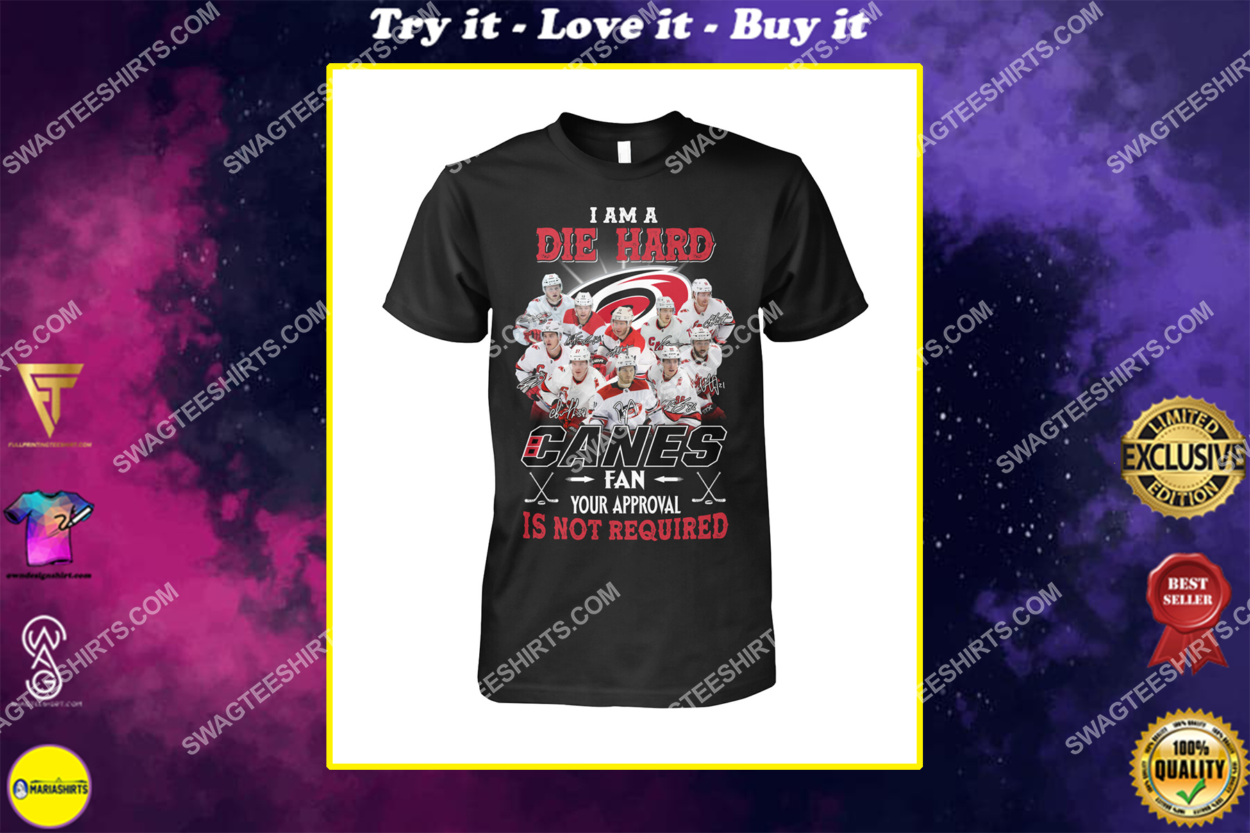 i am die hard fan your approval is not required carolina hurricanes shirt