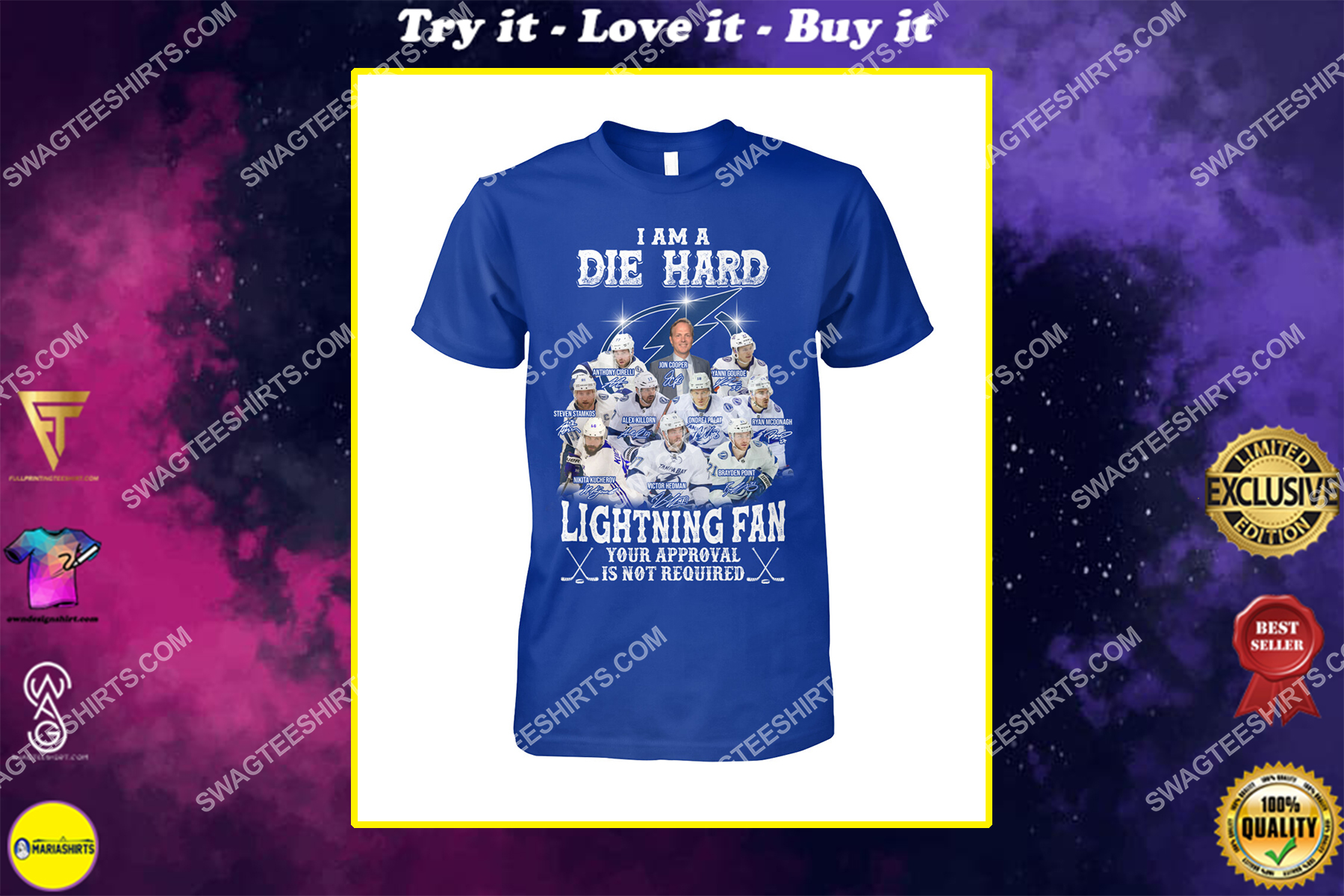 i am die hard lighting fan your approval is not required tampa bay lightning shirt