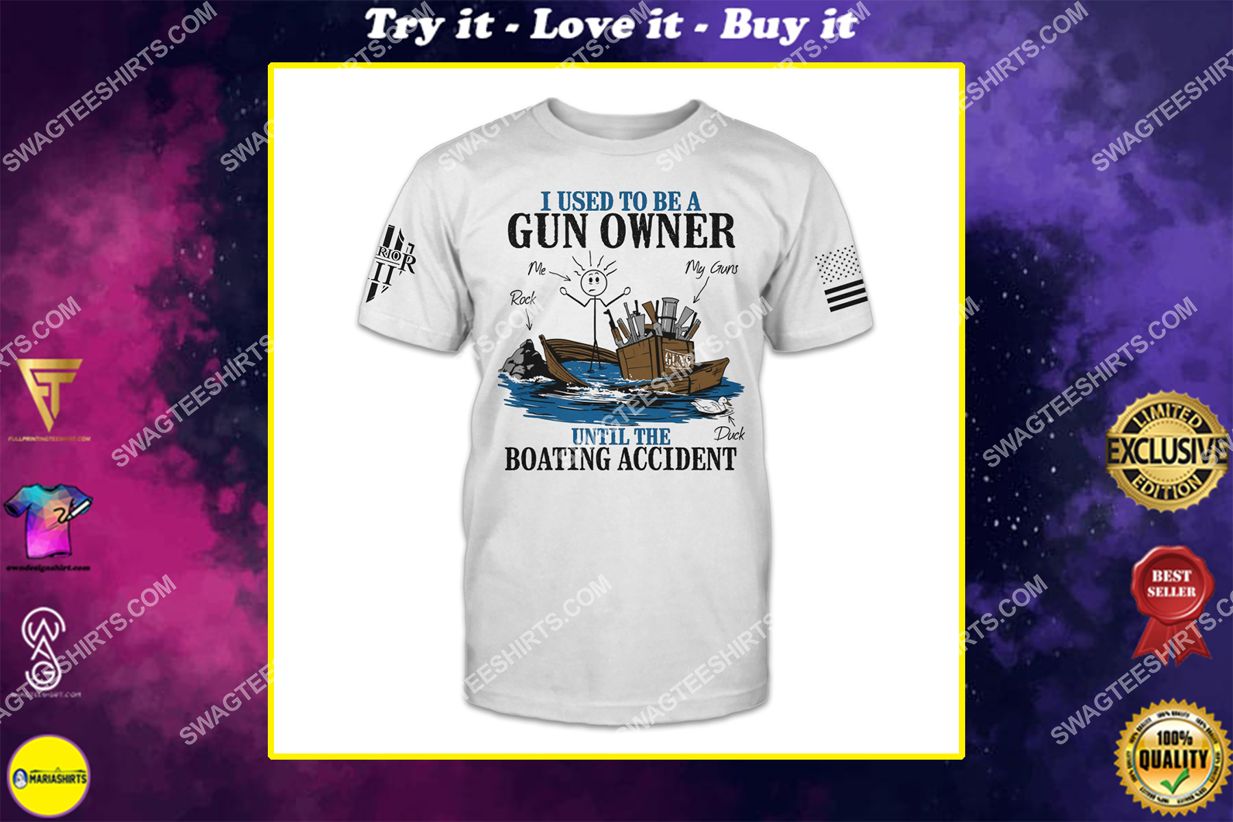 i used to be a gun owner until the boating accident politics shirt
