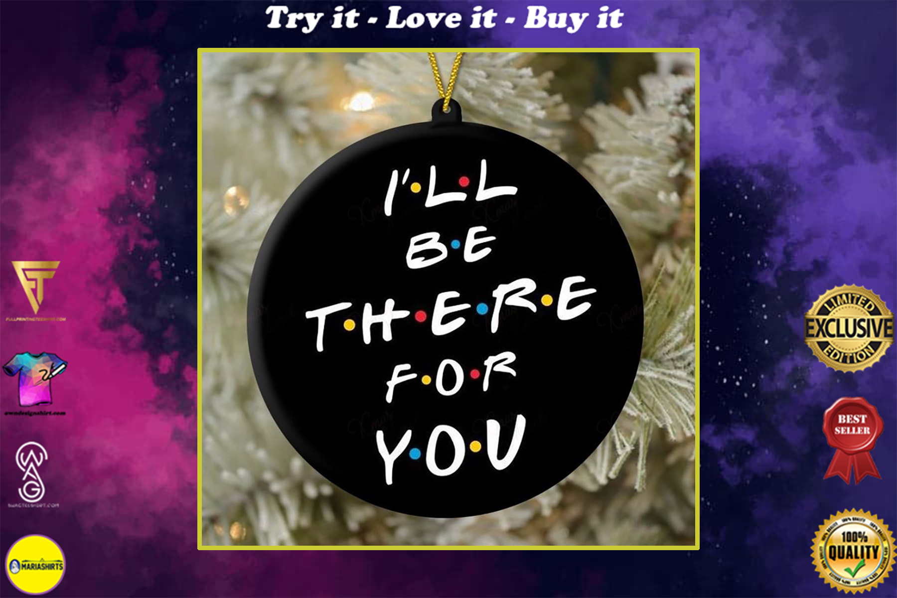 i will be there for you friends tv show christmas ornament