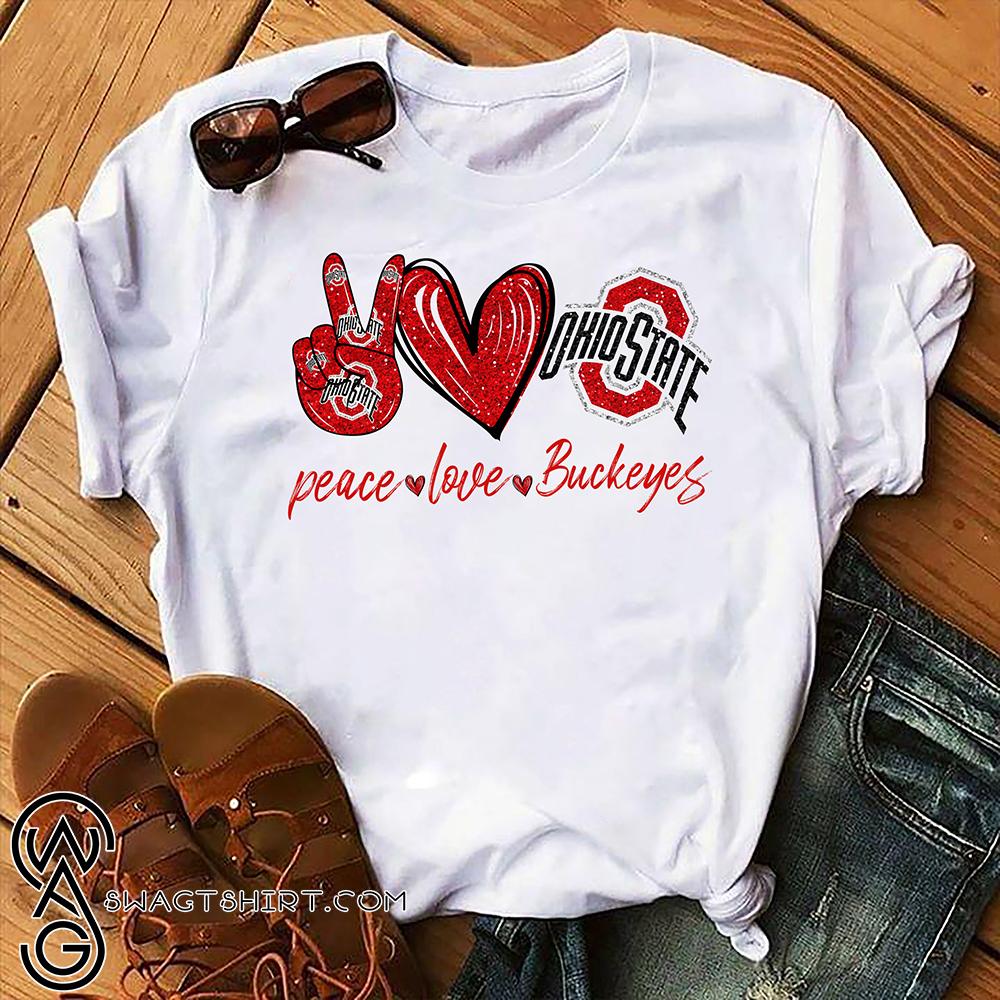 Peace love ohio state buckeyes nfl shirt