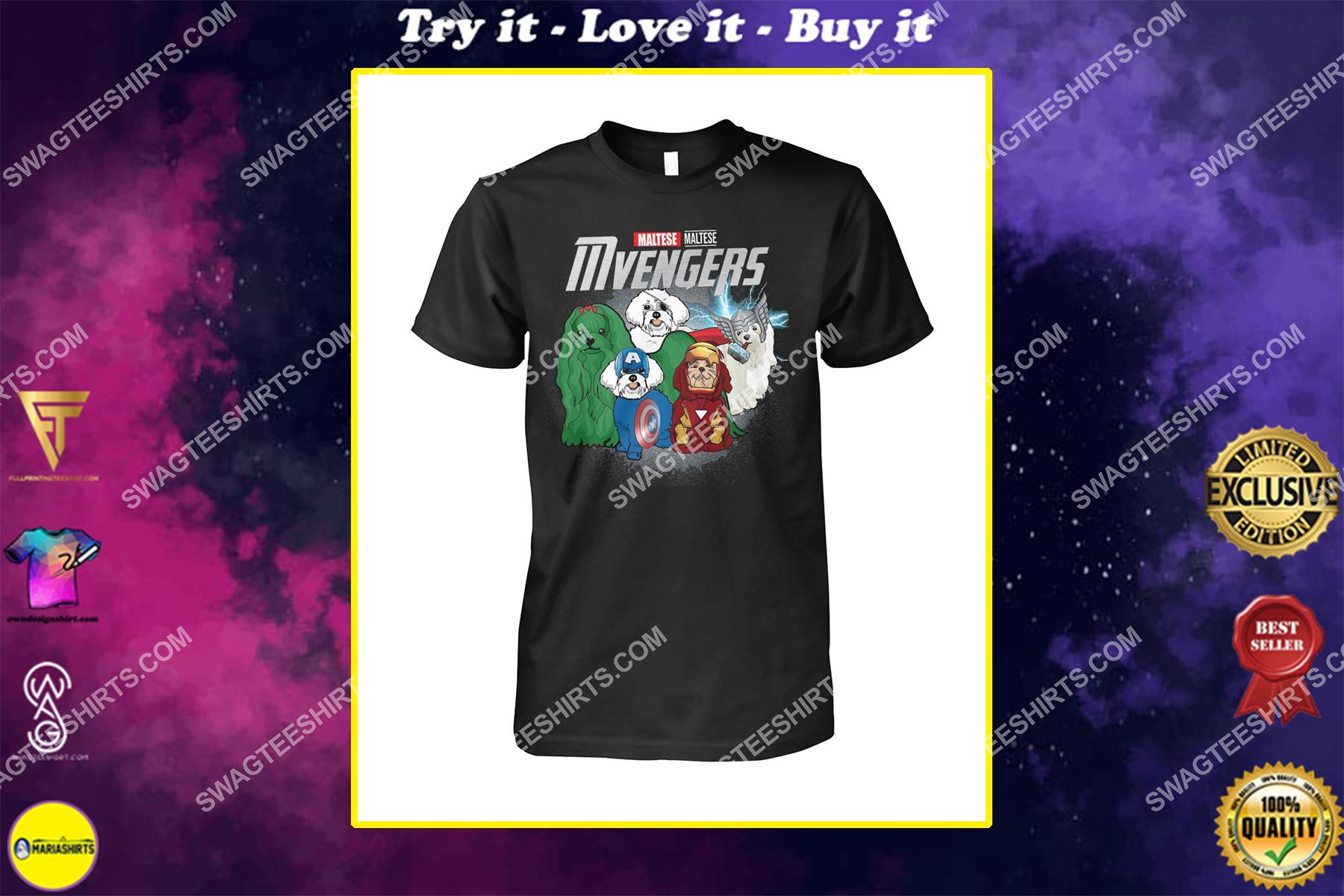 maltese mvengers marvel avengers dogs lover shirt