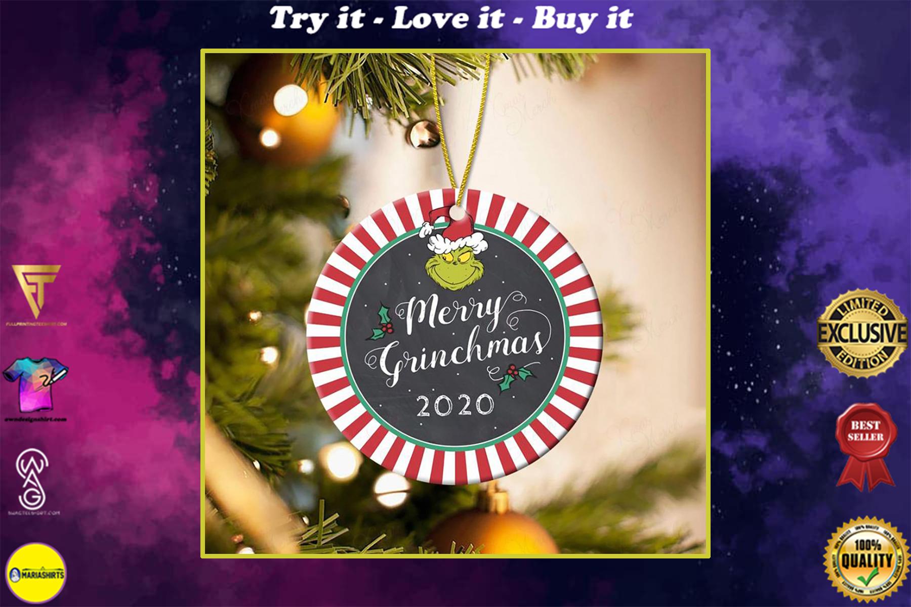 merry grinchmas 2020 christmas ornament