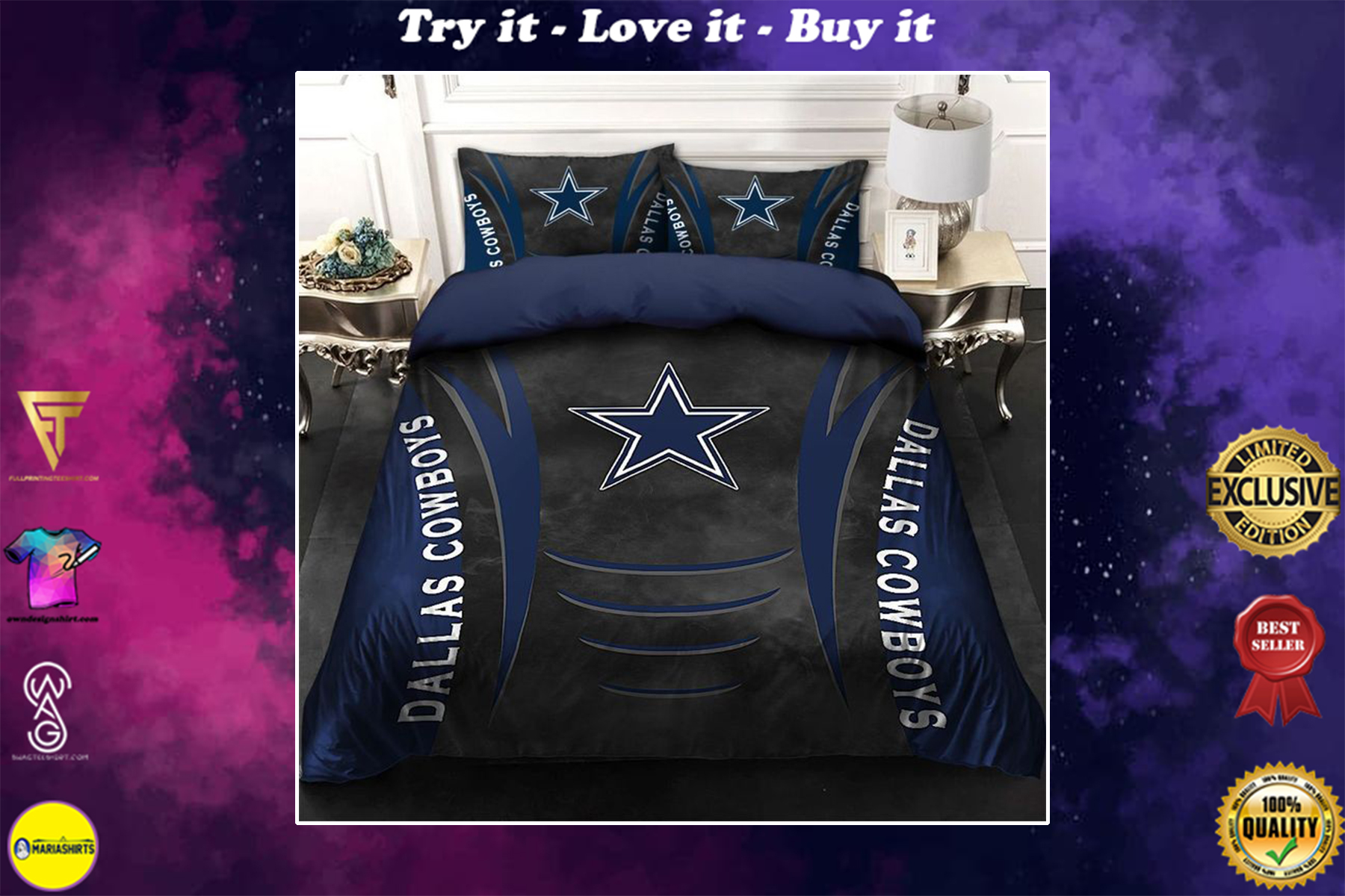nfl dallas cowboys bedding set