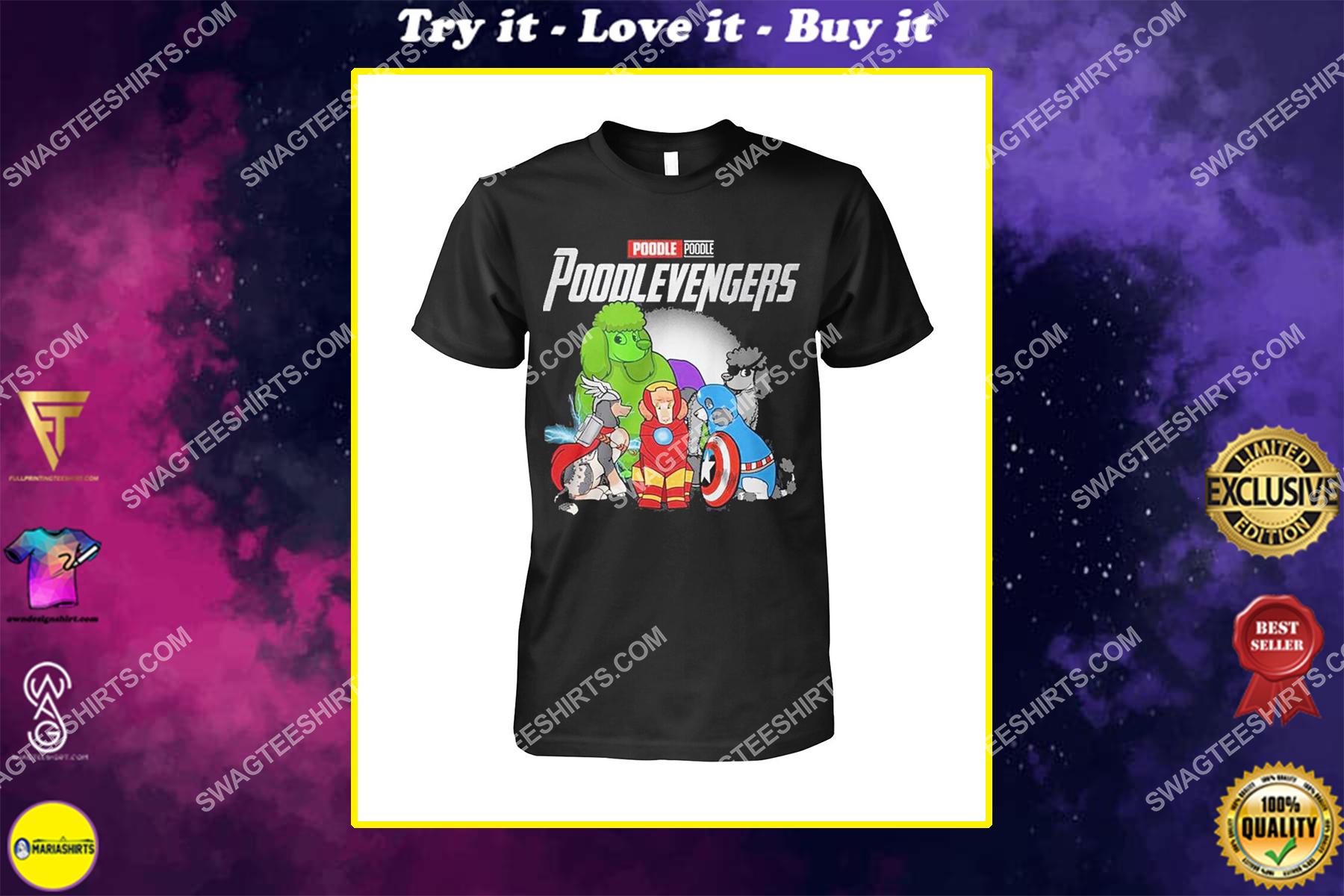 poodle poodlevengers marvel avengers dogs lover shirt