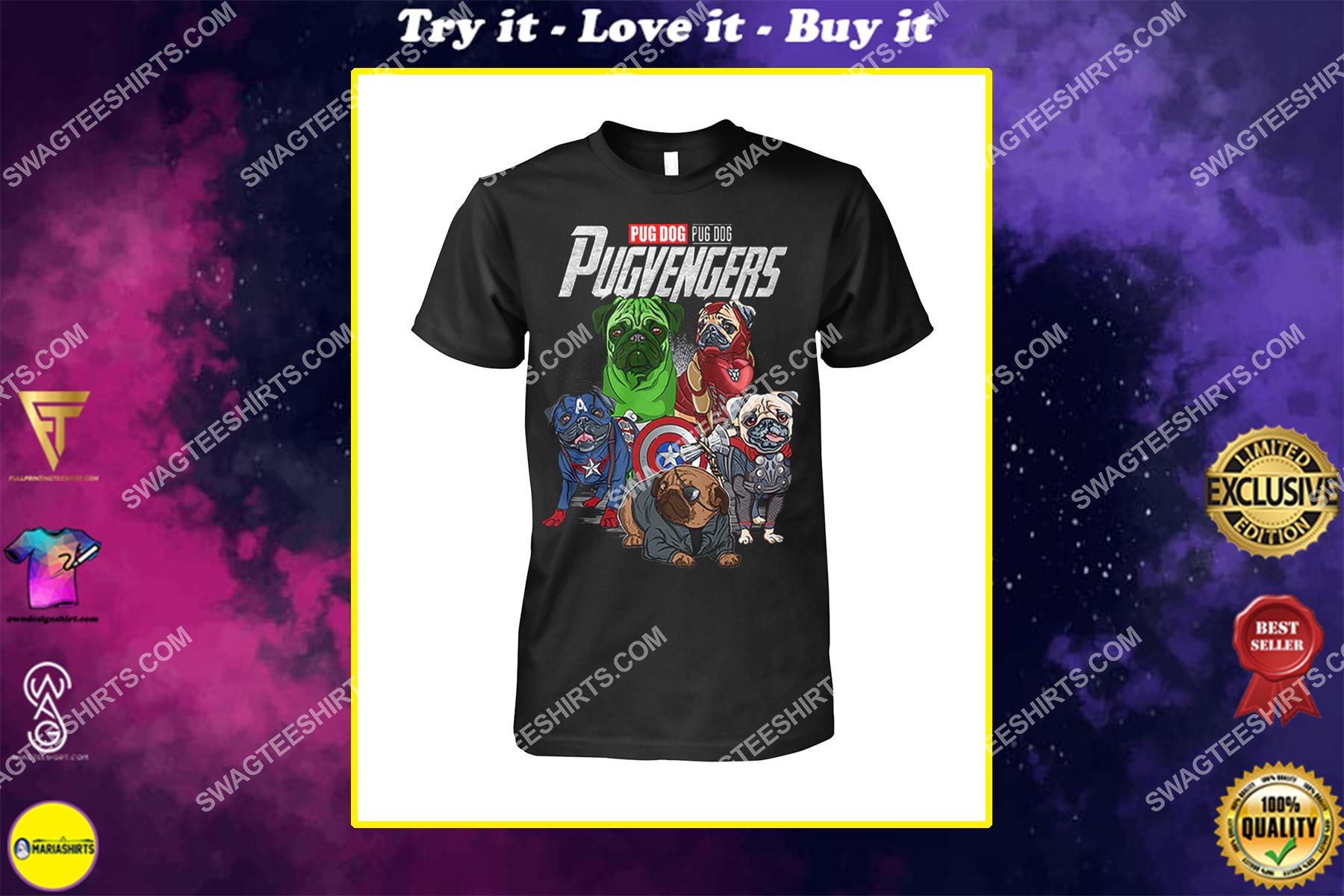 pug dog pugvengers marvel avengers dogs lover shirt