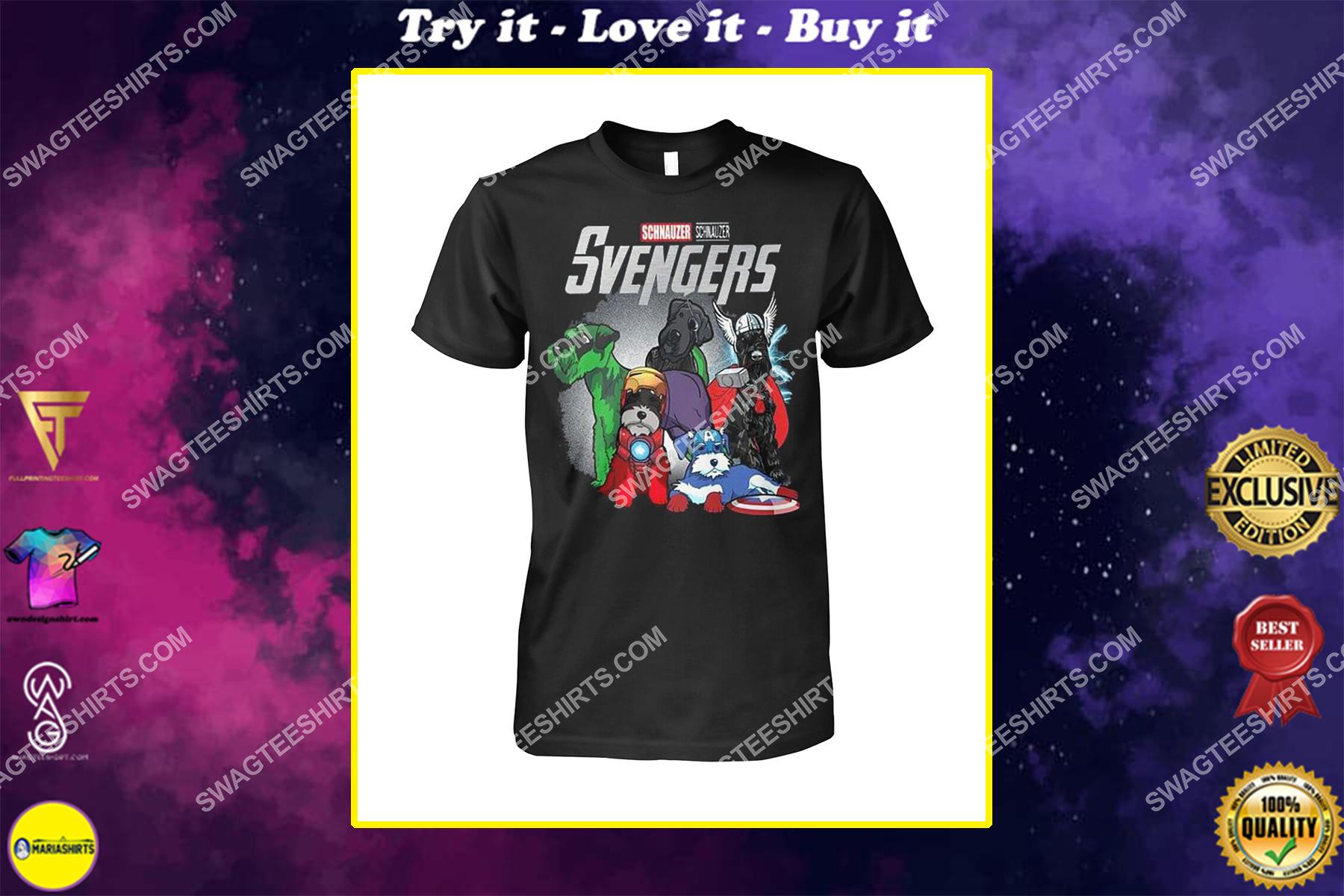 schnauzer svengers marvel avengers dogs lover shirt