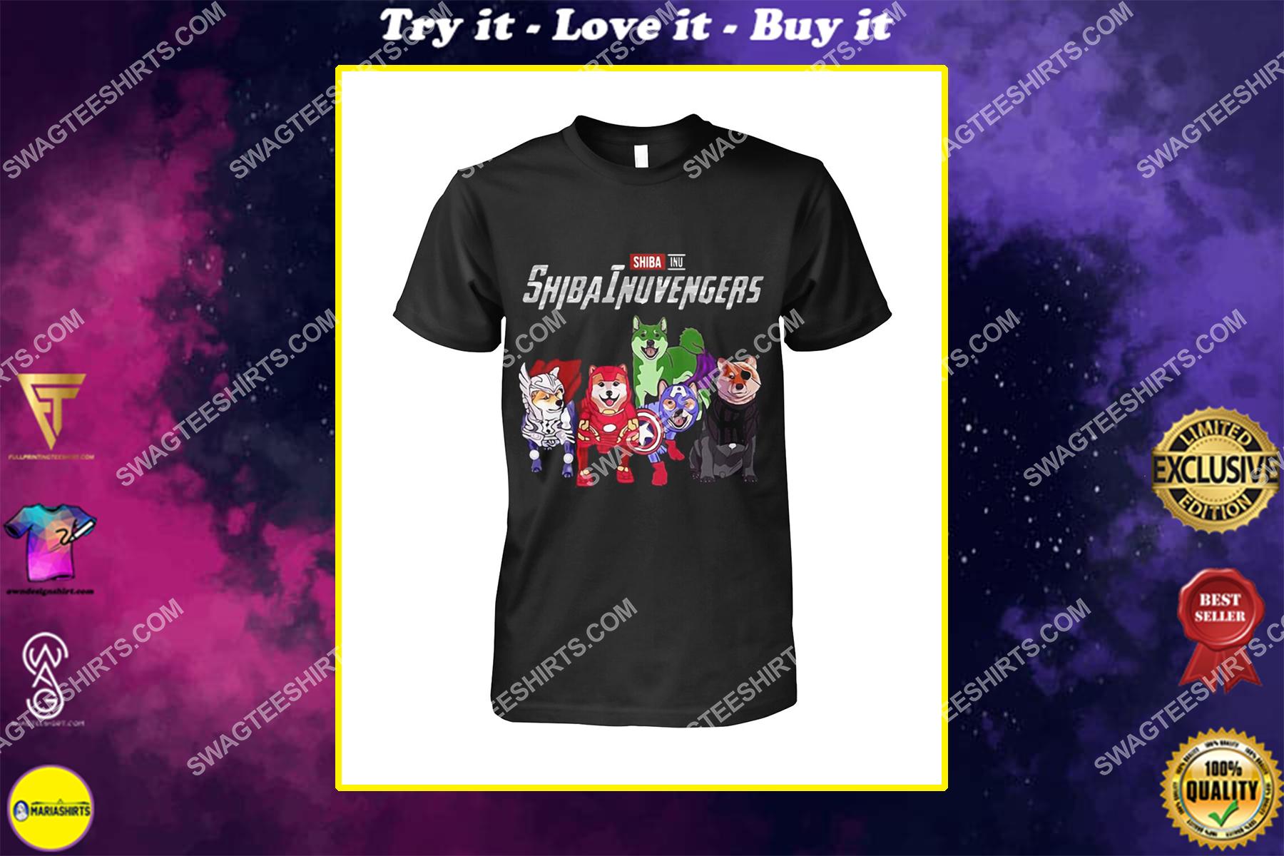 shiba inu shibainuvengers marvel avengers dogs lover shirt
