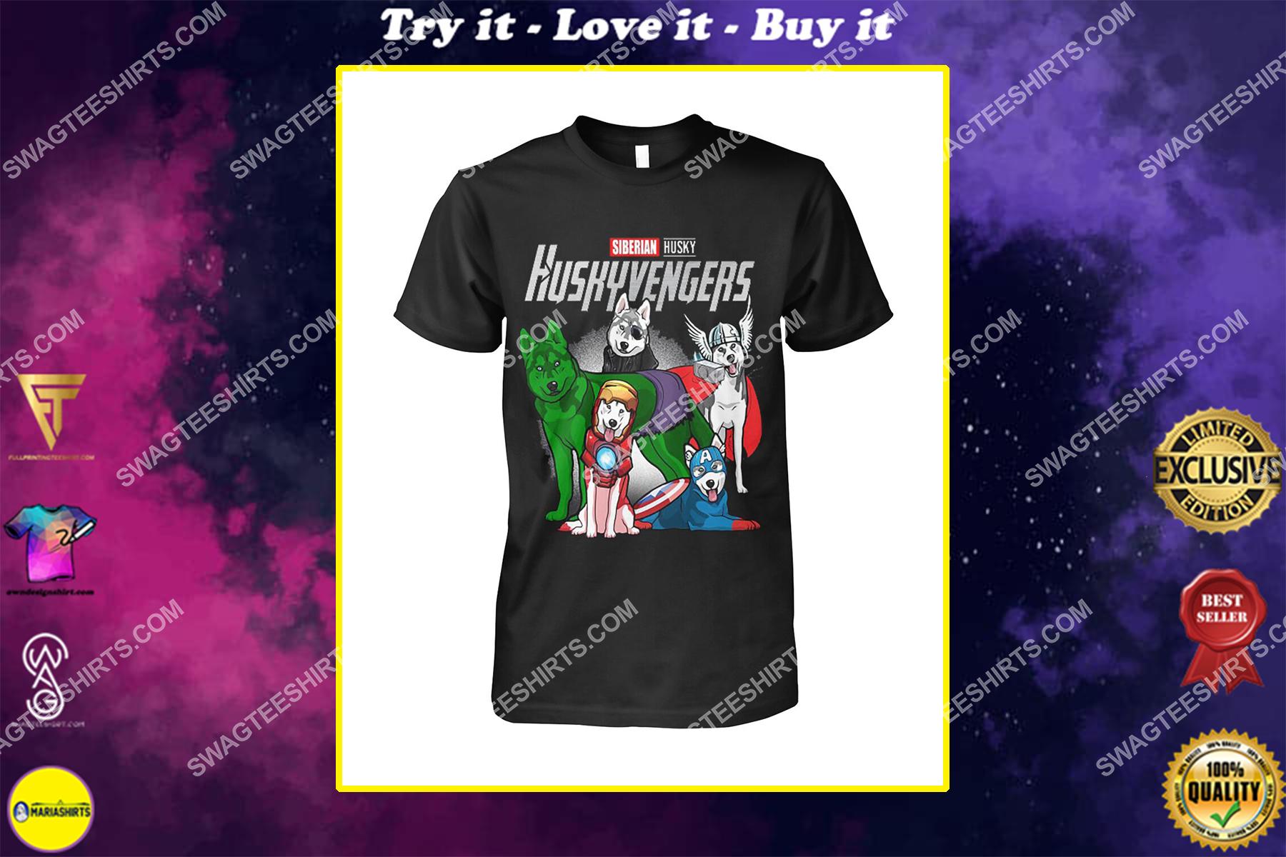 siberian husky huskyvengers marvel avengers dogs lover shirt