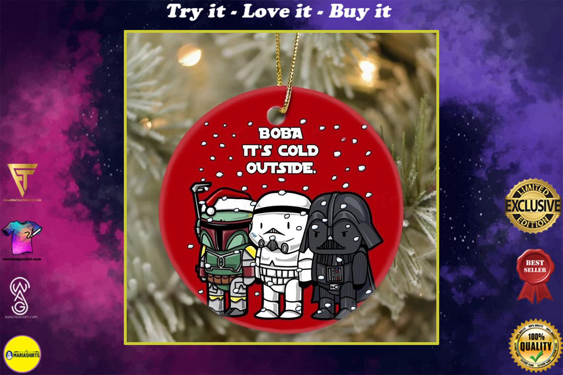 star wars darth vader and stormtrooper boba its cold outside christmas ornament