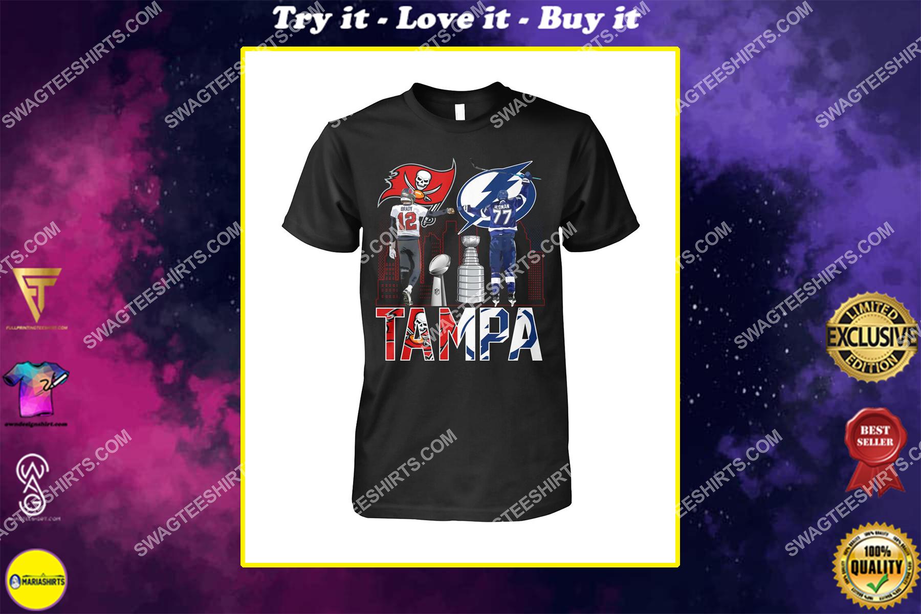 tampa bay buccaneers and tampa bay lightning shirt