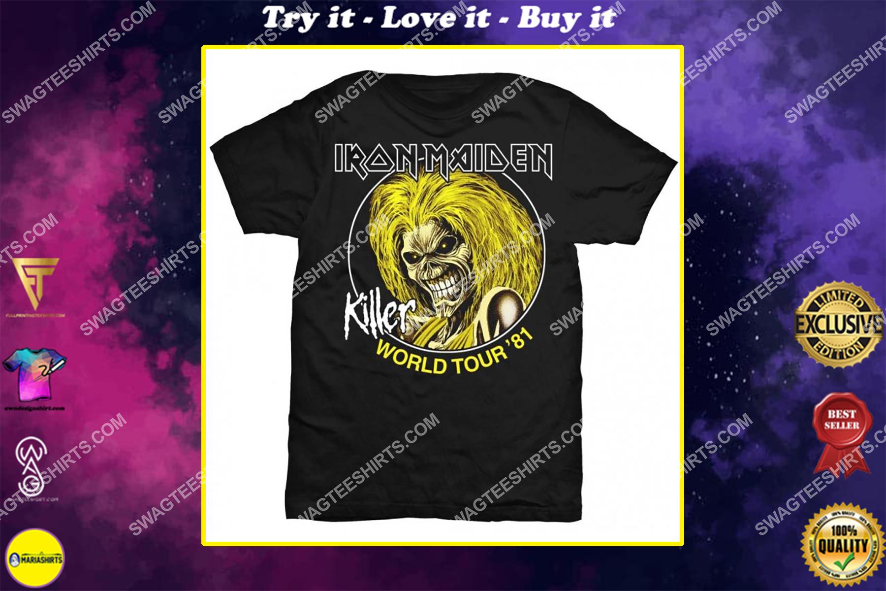 the iron maiden rock band killers world tour 81 shirt