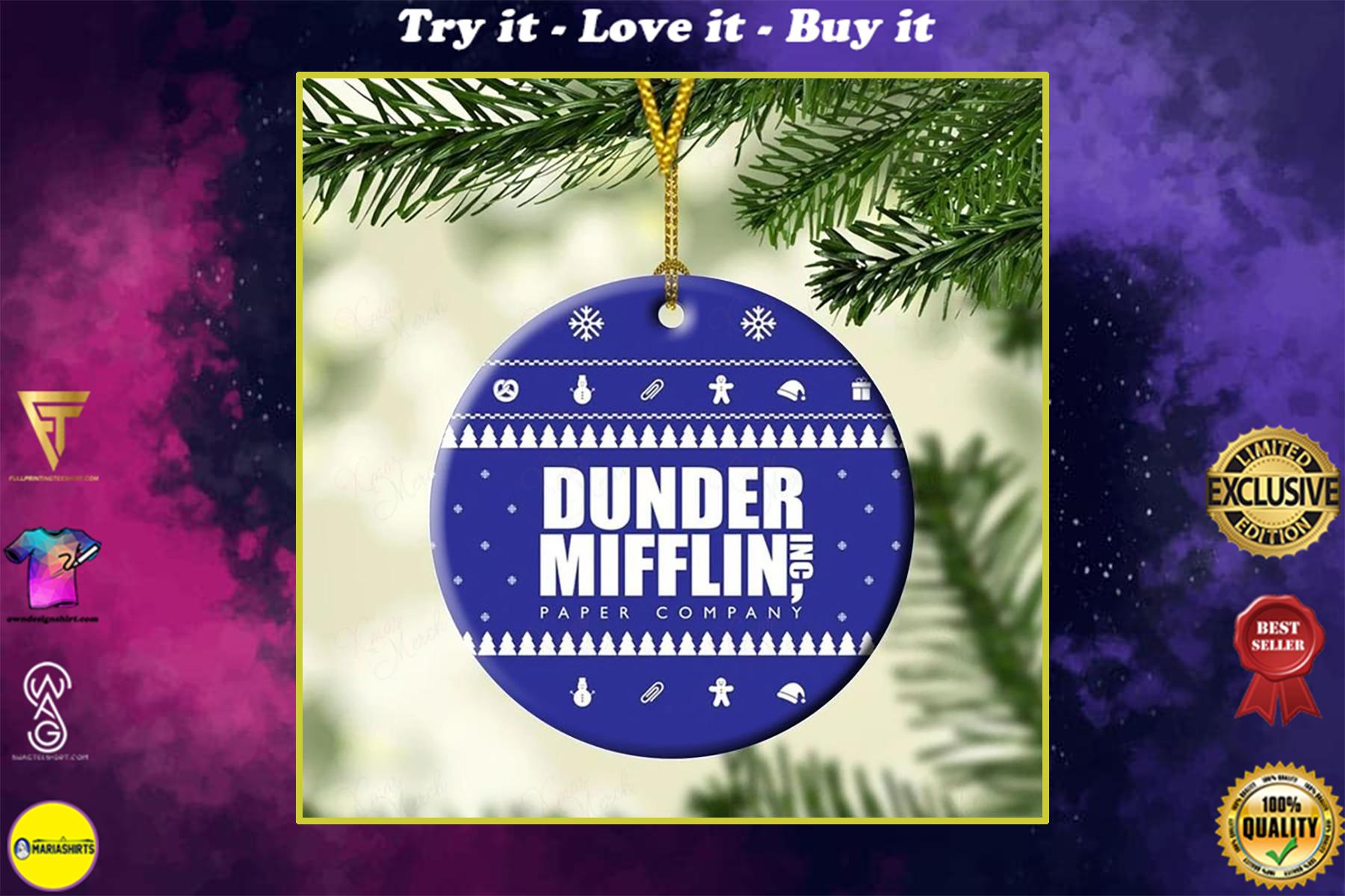 the office dunder mifflin christmas ornament