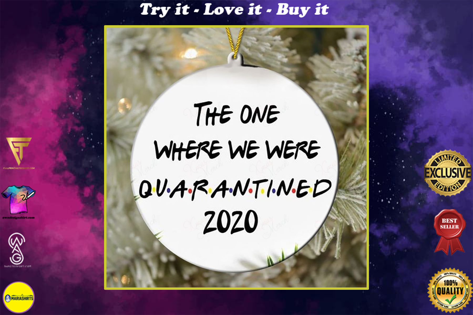 the one where we were quarantined 2020 christmas ornament