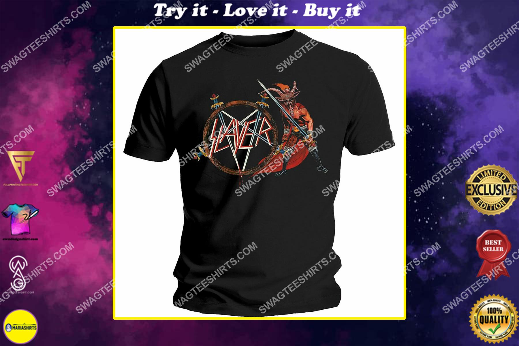 the slayer american thrash metal vintage shirt