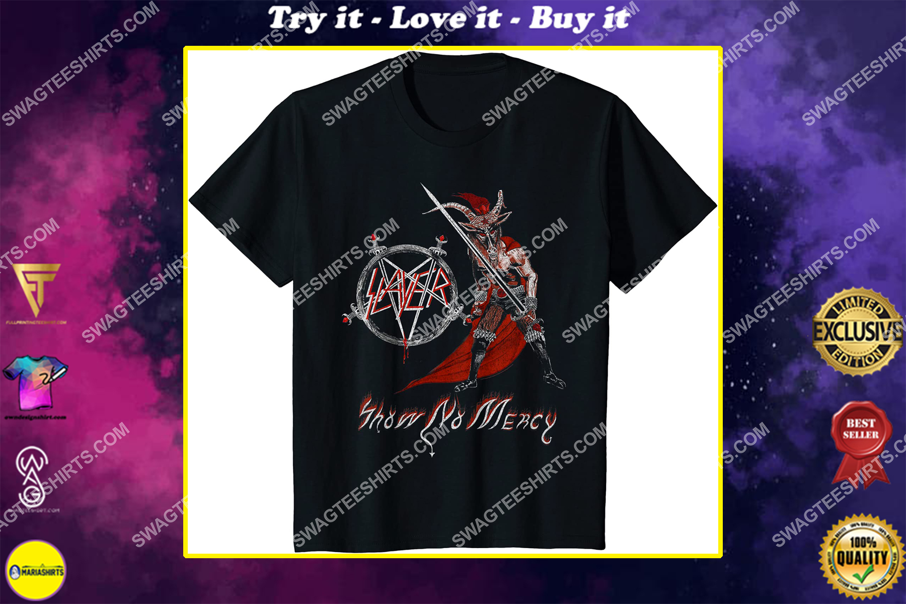 the slayer rock band show no mercy shirt