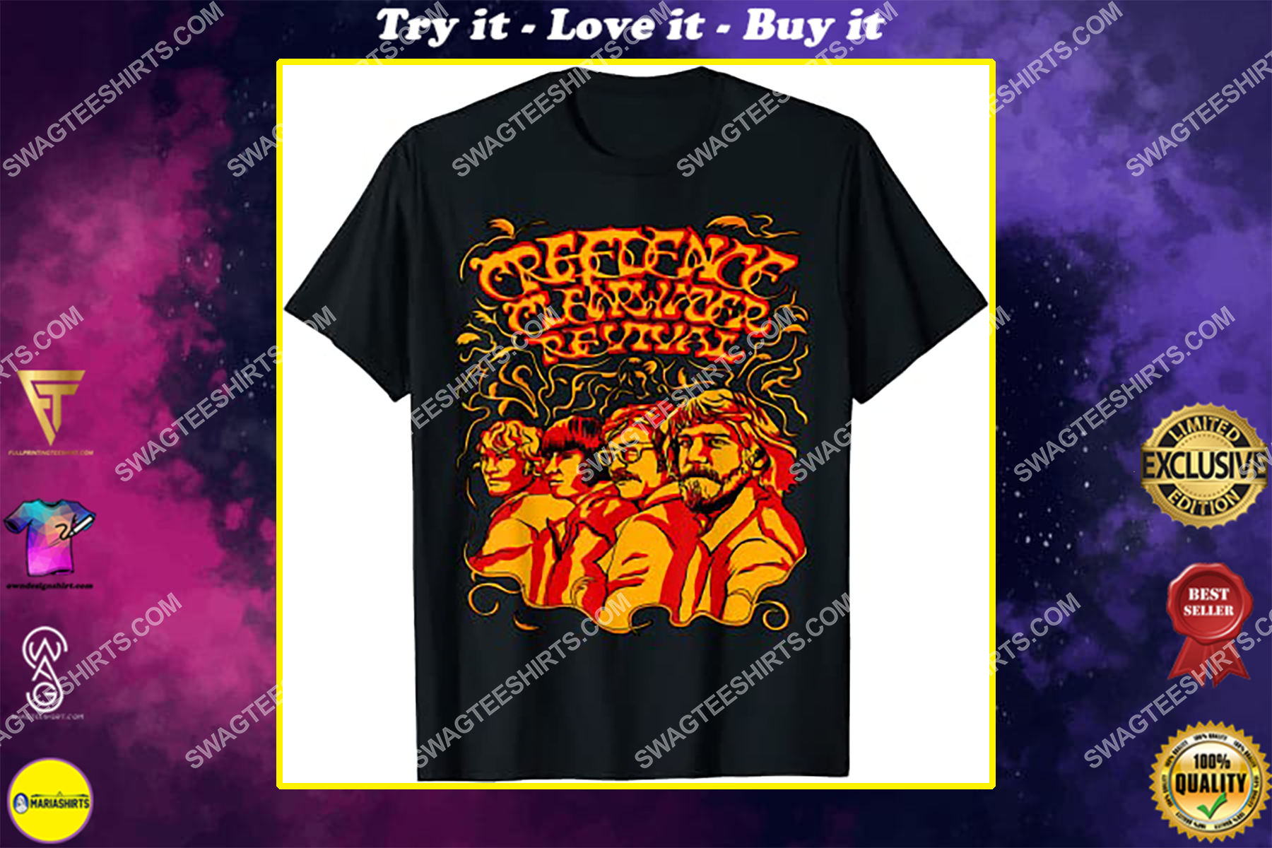 vintage creedence clearwater revival band shirt
