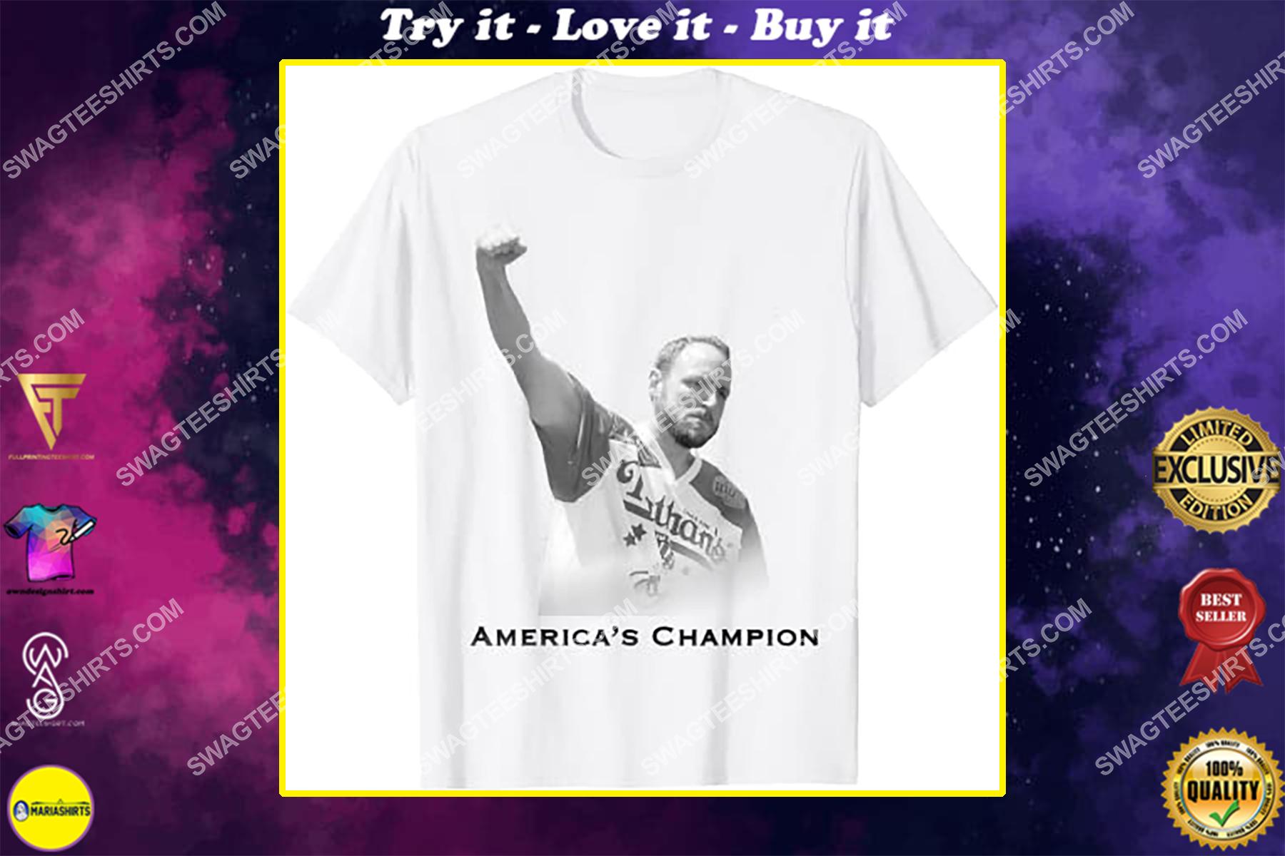 vintage joey chestnut america's champion shirt
