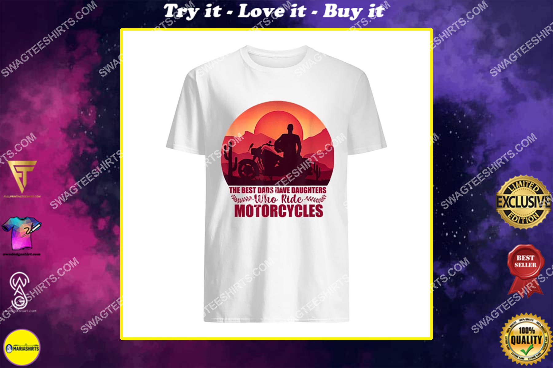 vintage the best dads have daughters who ride motorcycles shirt