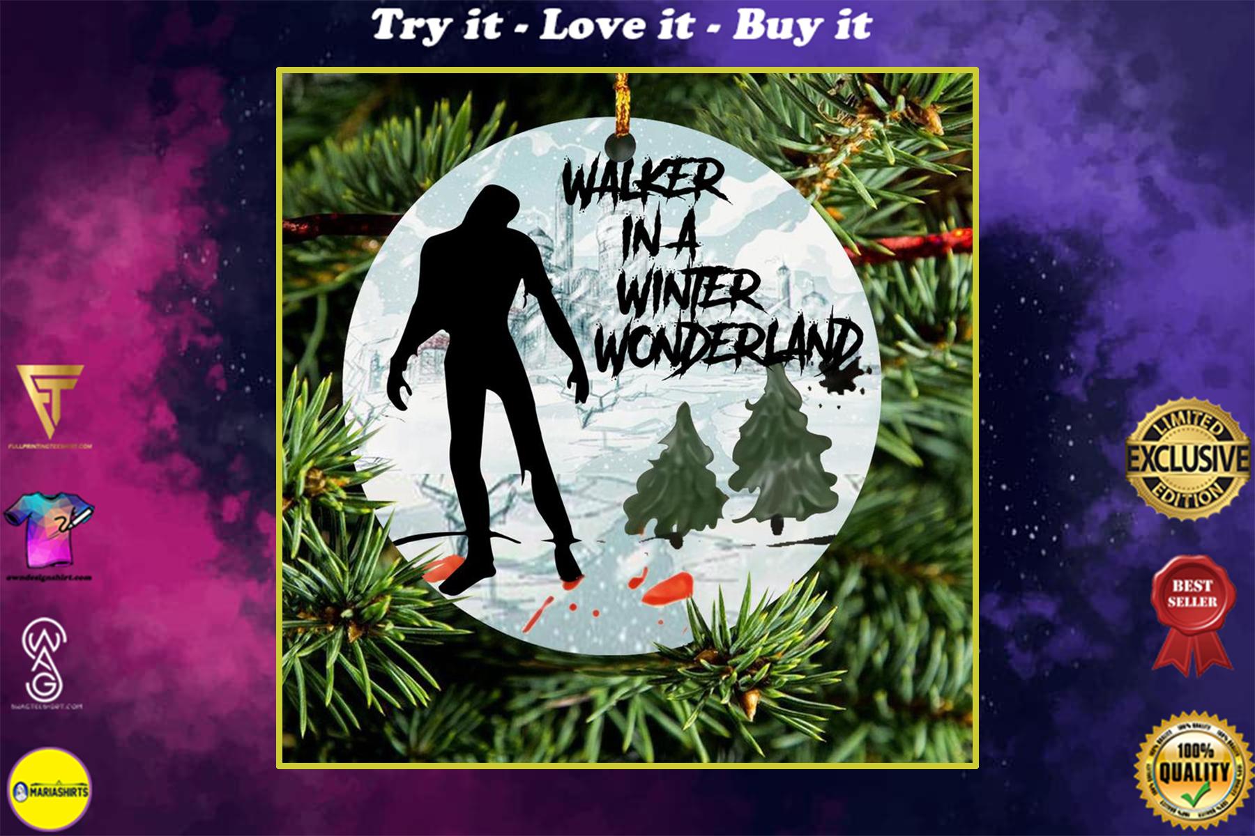 walker in a winter wonderland christmas ornament